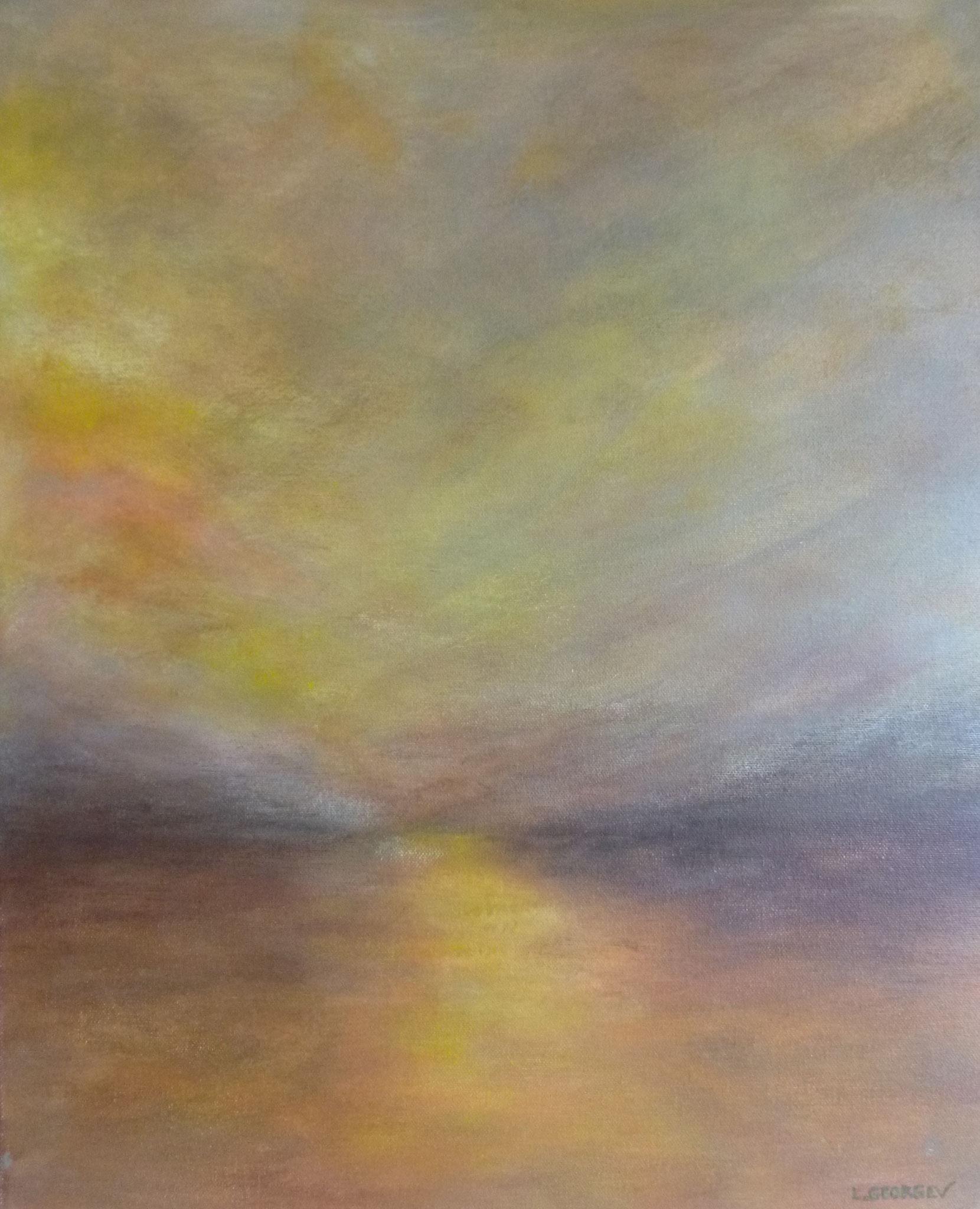 CRÉPUSCULE, acrylique sur toile, 50x40 cm