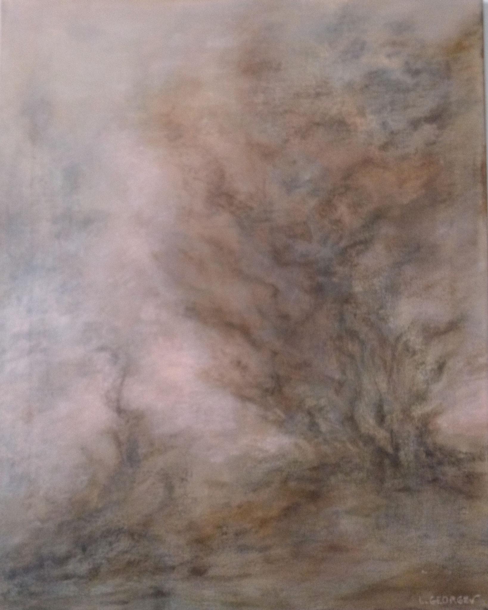 BRISE D'AUTOMNE, acrylique sur toile, 50x40 cm