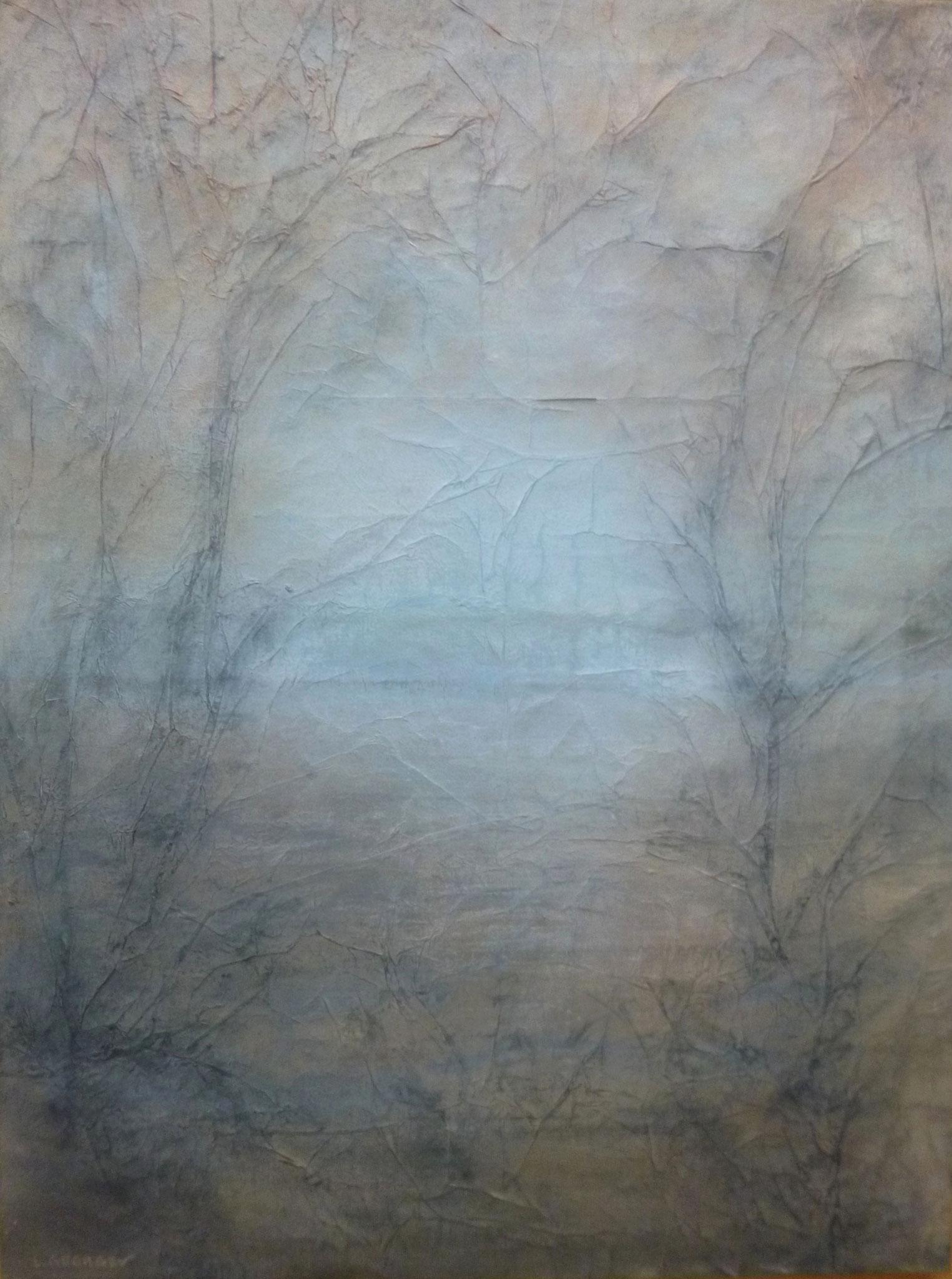 AZUR, techniques mixtes sur toile, 61x46cm