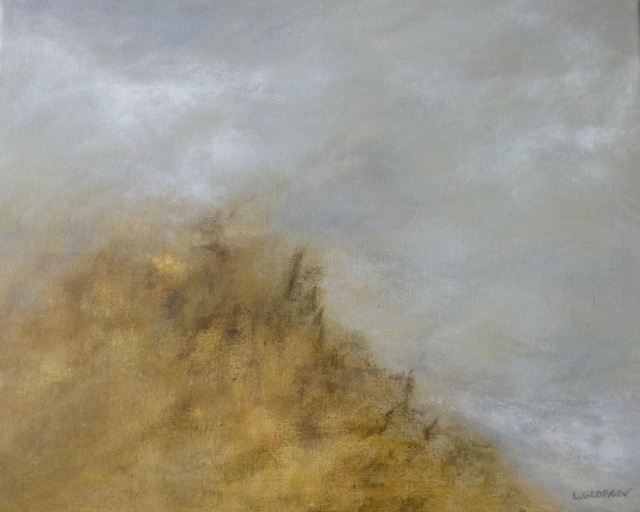 CIME, acrylique sur toile, 40x50 cm