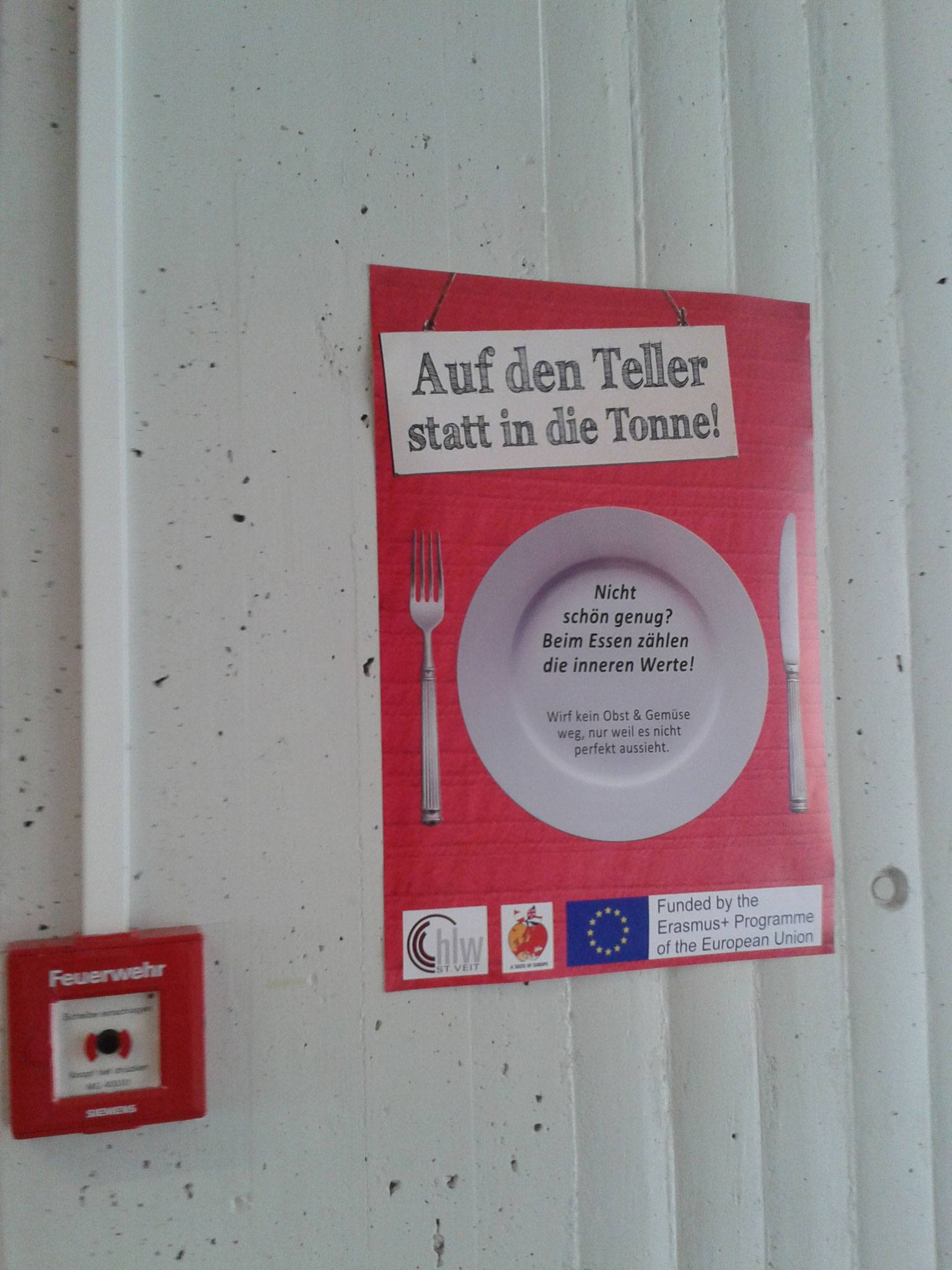 """Stop Food Waste!"" Posters at HLW St. Veit"