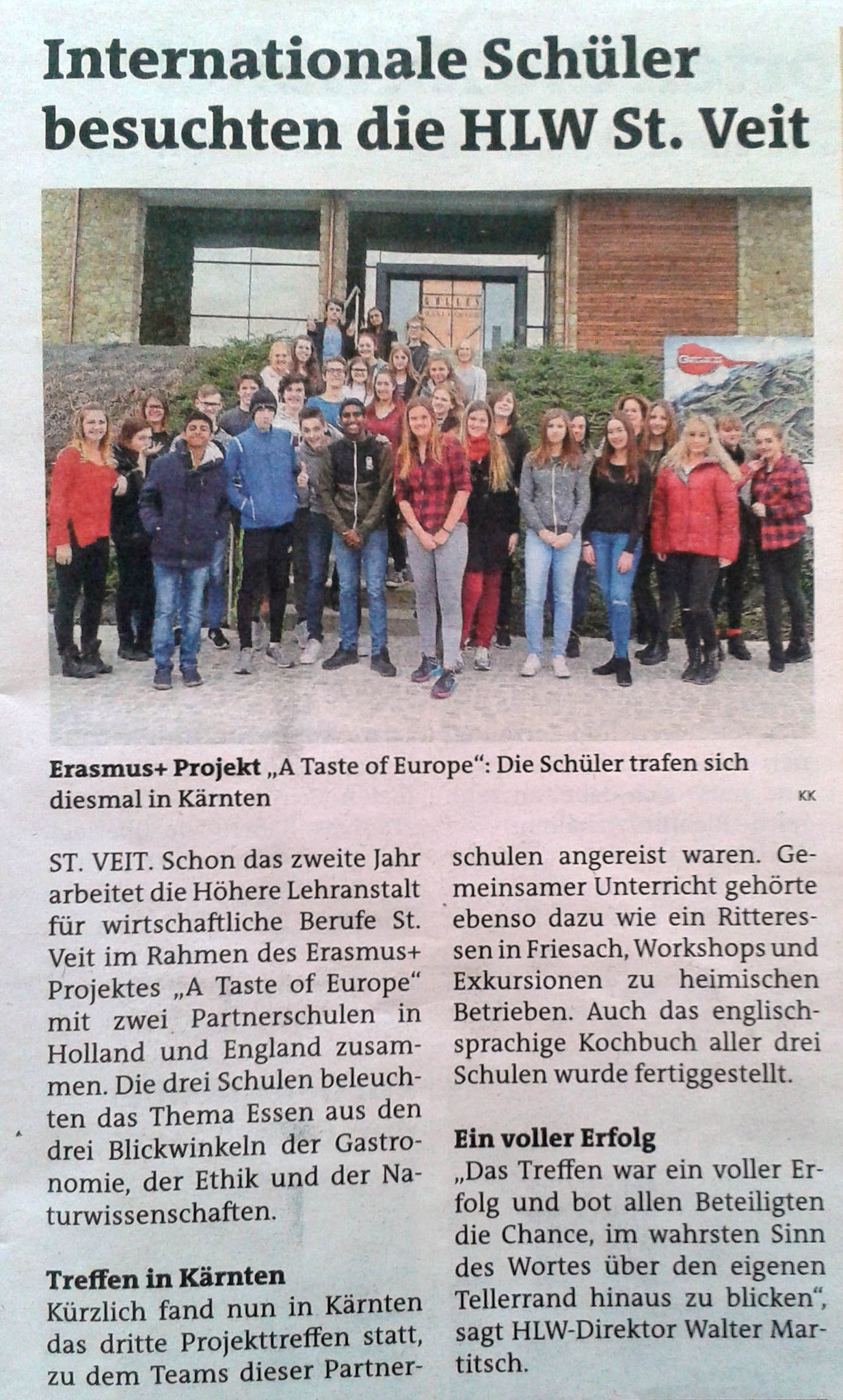 HLW: Newspaper article about LTTA St. Veit, Feb 2017 (DE)