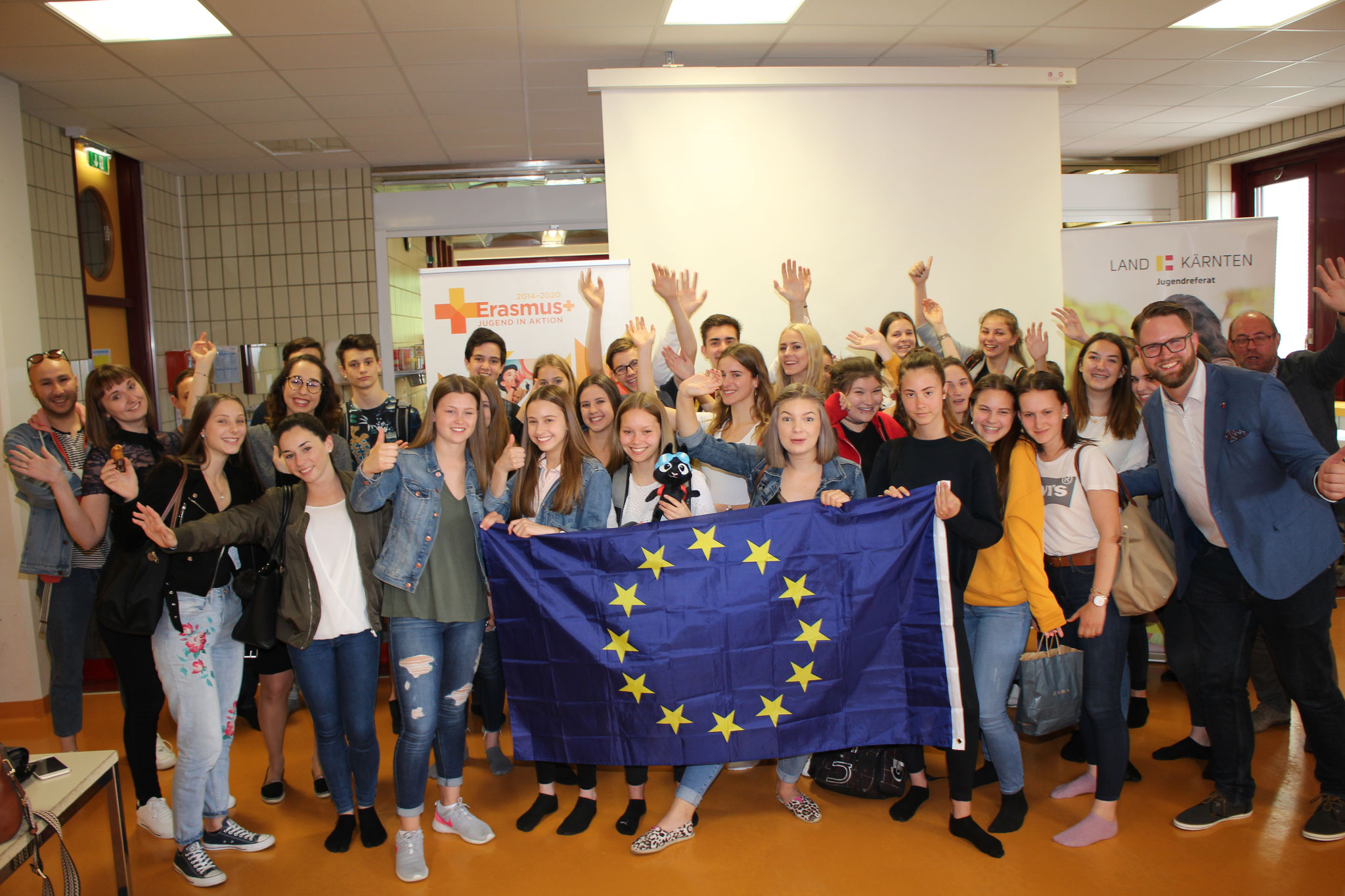 Europe Day 2018 at HLW St. Veit: presentations about ATE and other projects