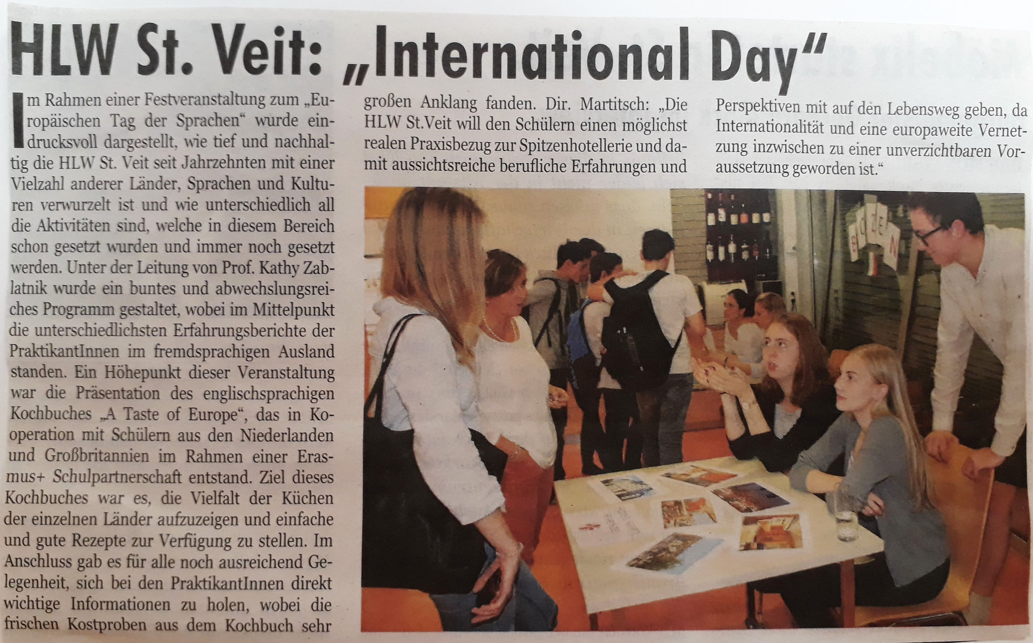 "Presentation of RECIPE BOOK at ""HLW International Day"", Oct 2017"