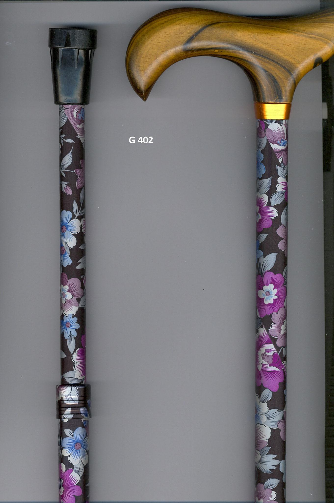 G402 Steunstok telescopisch aluminium met bloemen