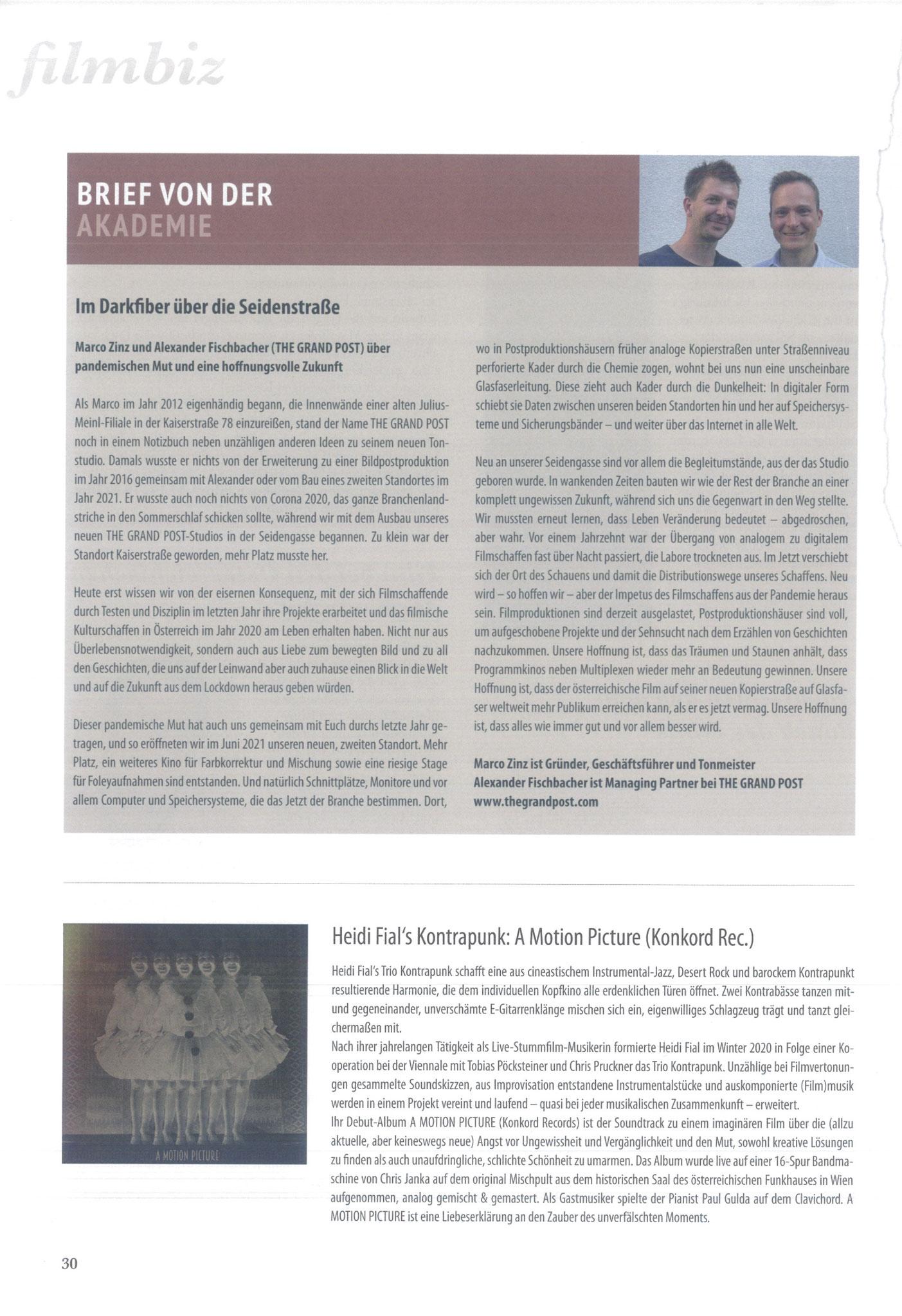 Film Sound Media Austria Magazin