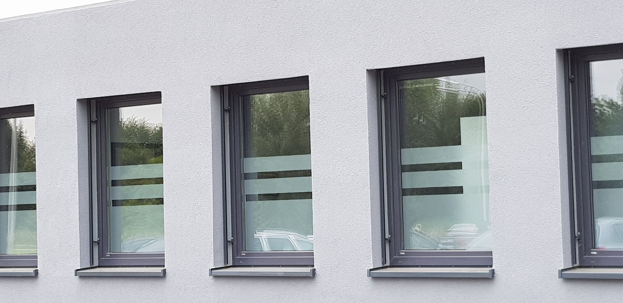 Glasdekor/Sichtschutz