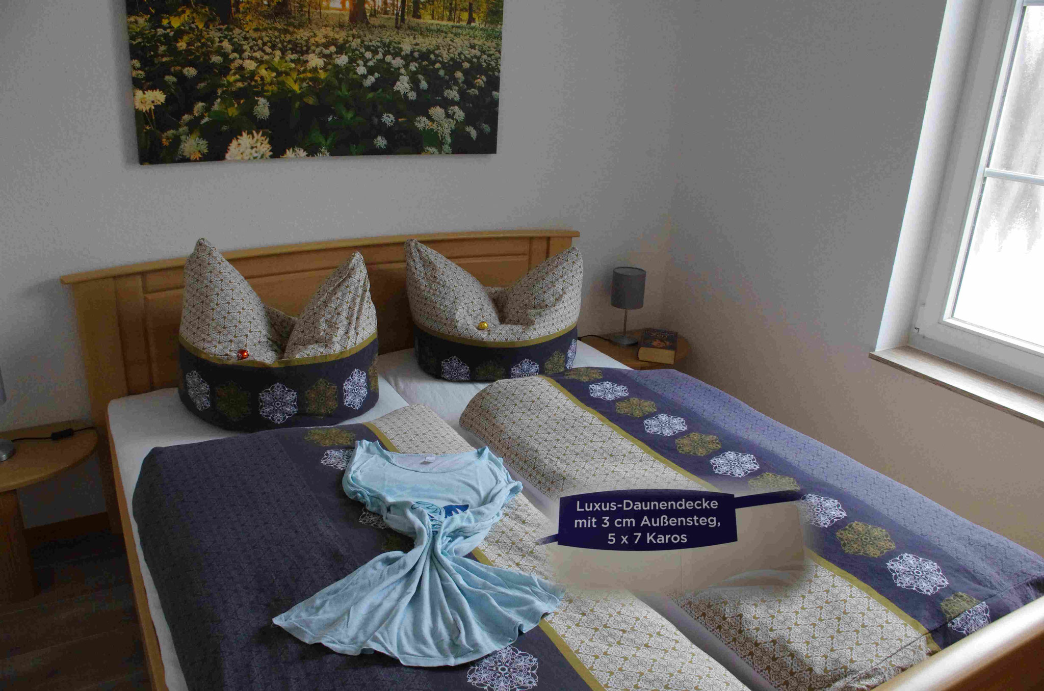 Schlafzimmer mit Matratzen Comfort 7 Zonen  90 % Daunendecken