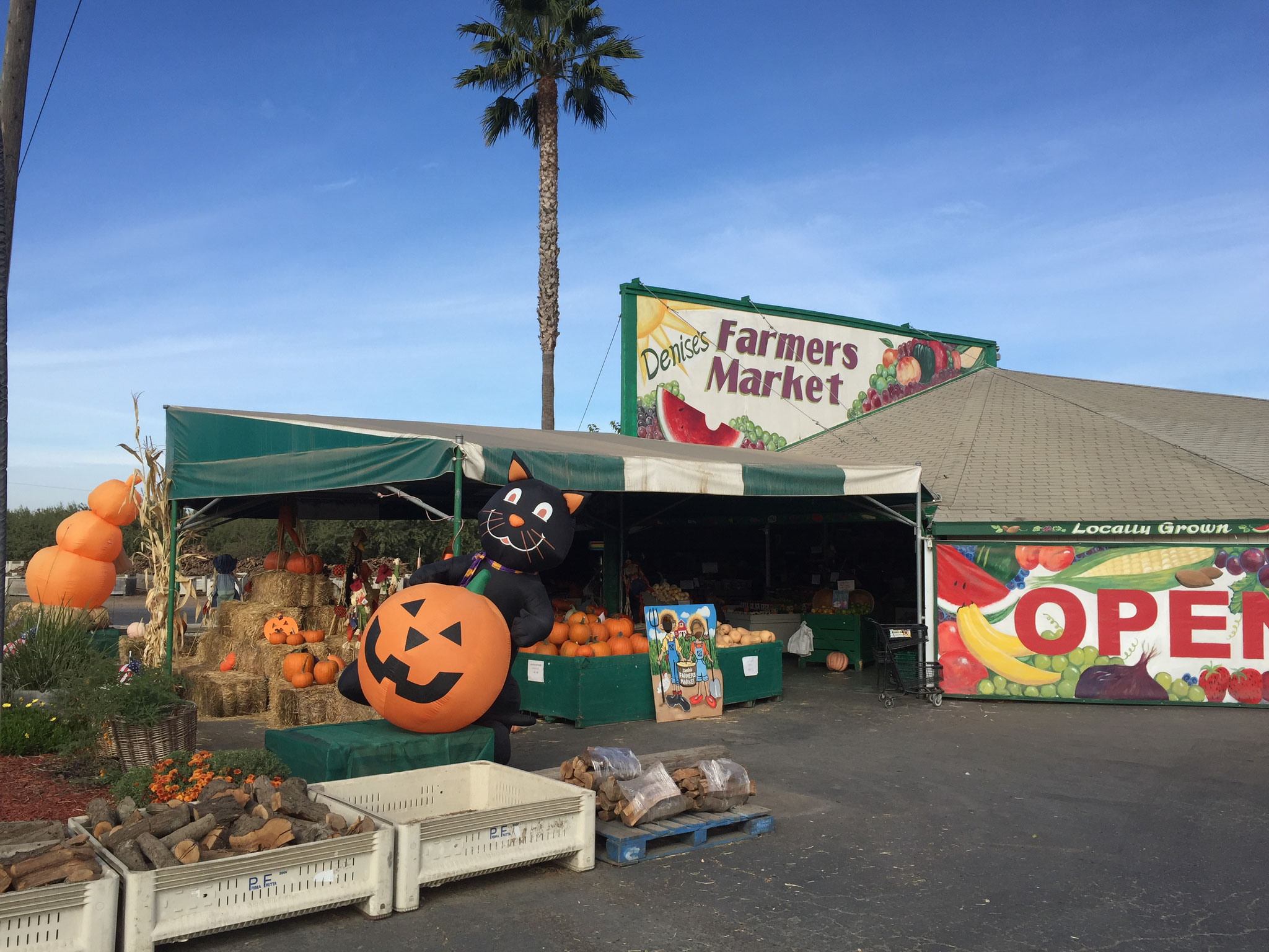 広大な果樹園で作った野菜・果物を売っているマーケット(カリフォルニア州)