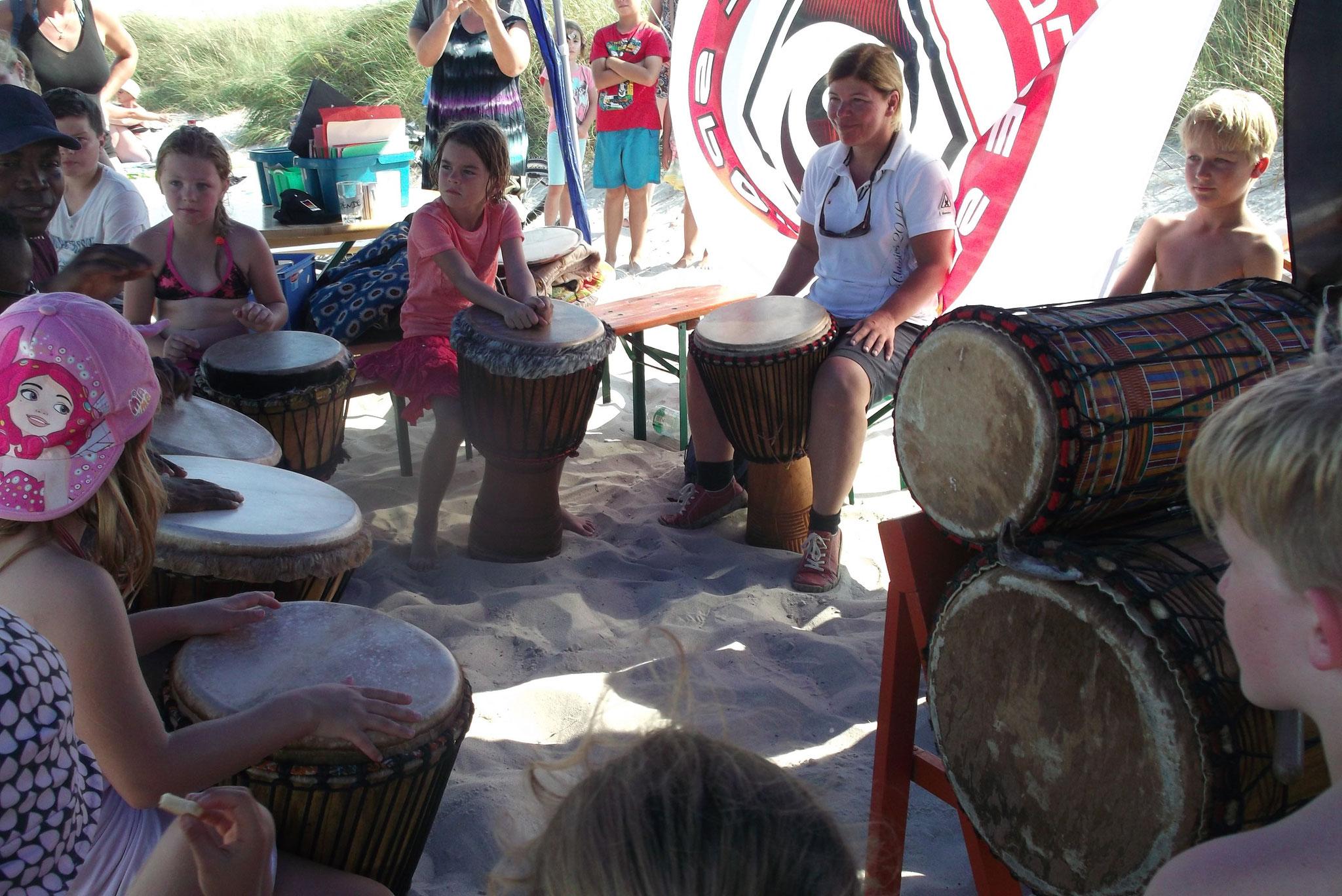 Trommelworkshop mit Sammy