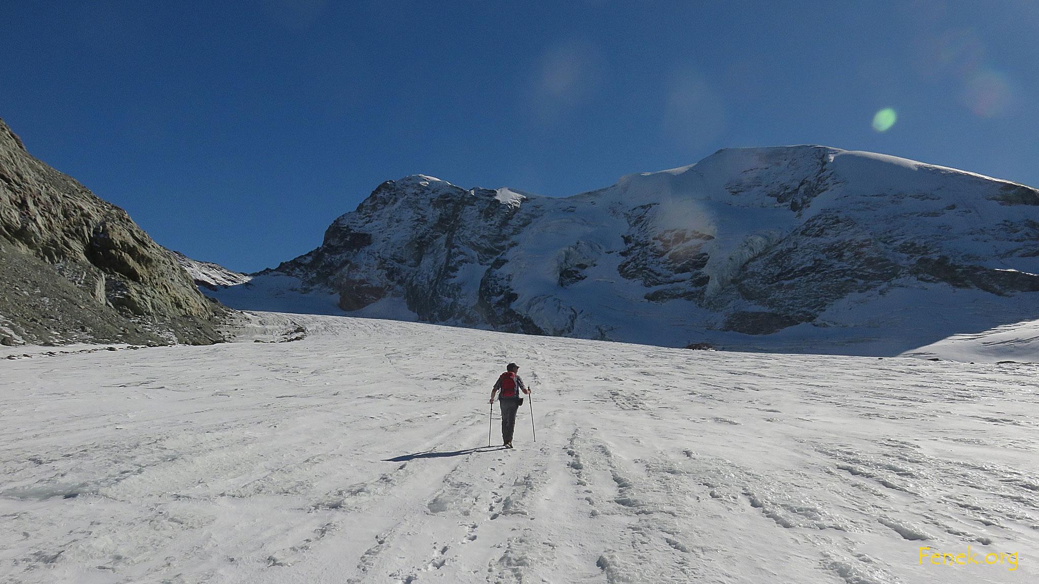 einsam auf dem Gletscher....