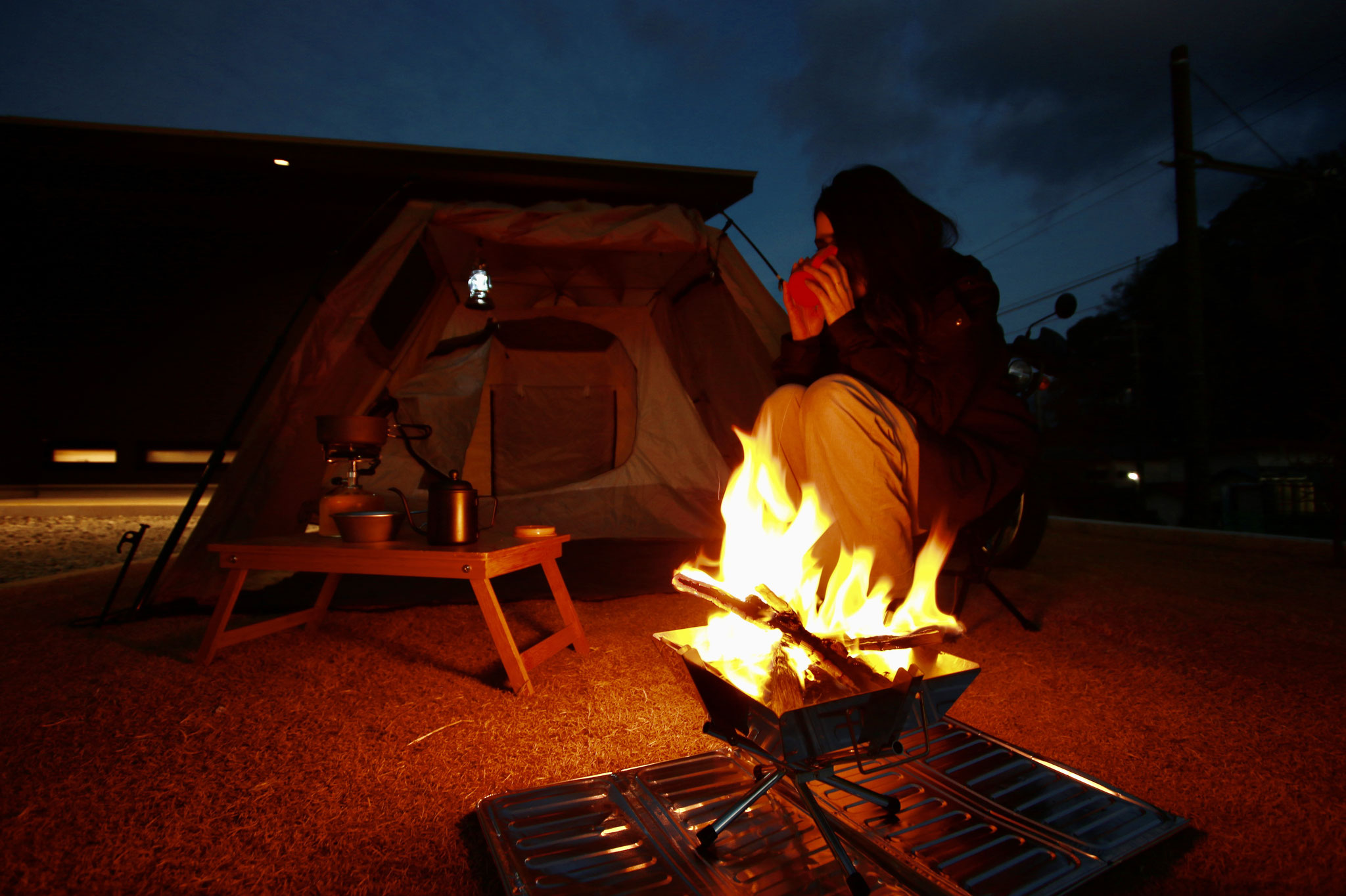 「女性ライダー」向けのテント宿泊プラン