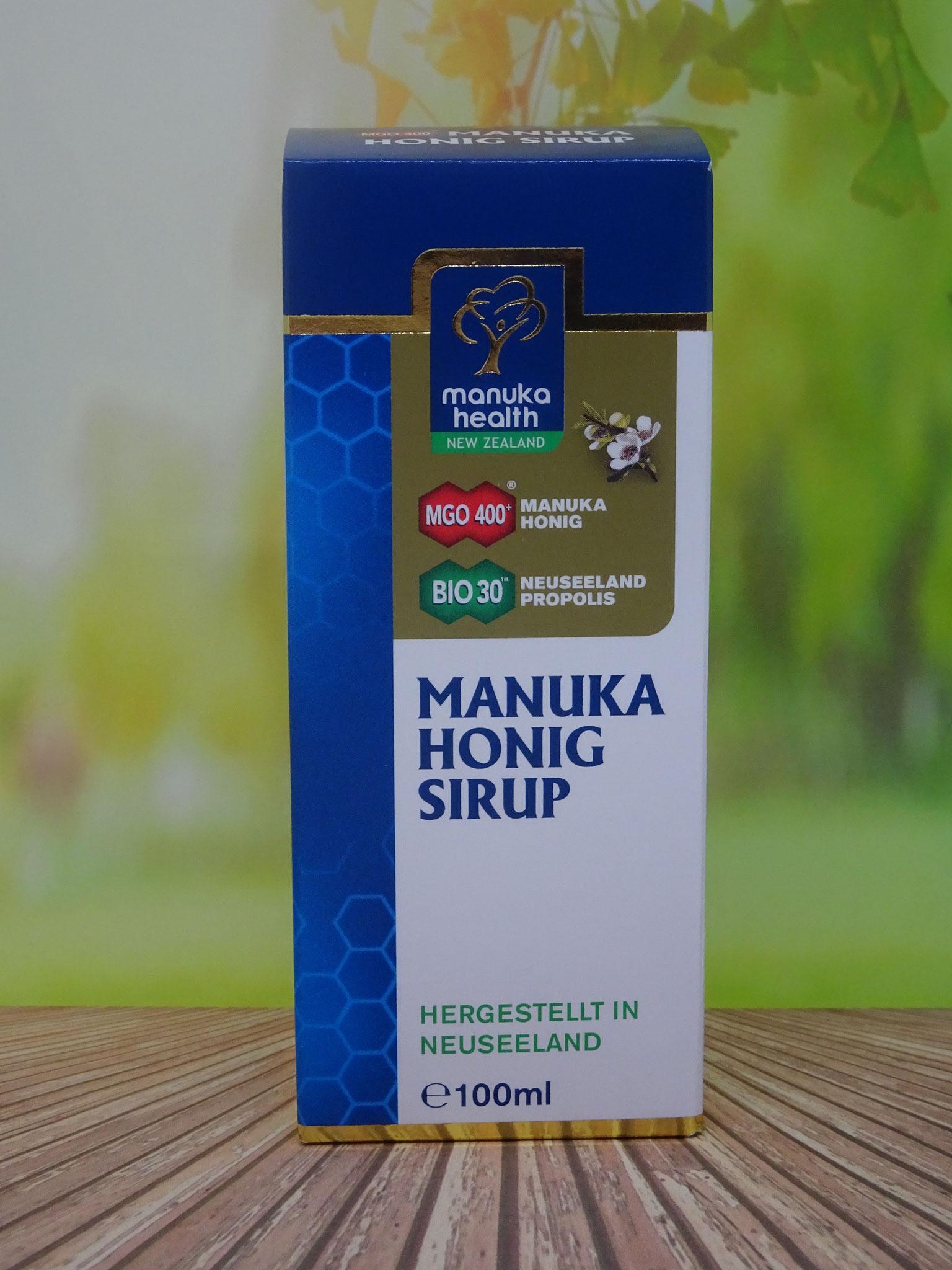 Manuka Honig Sirup für Erwachsene MGO 400 100 ml (Manuka Health New Zealand)
