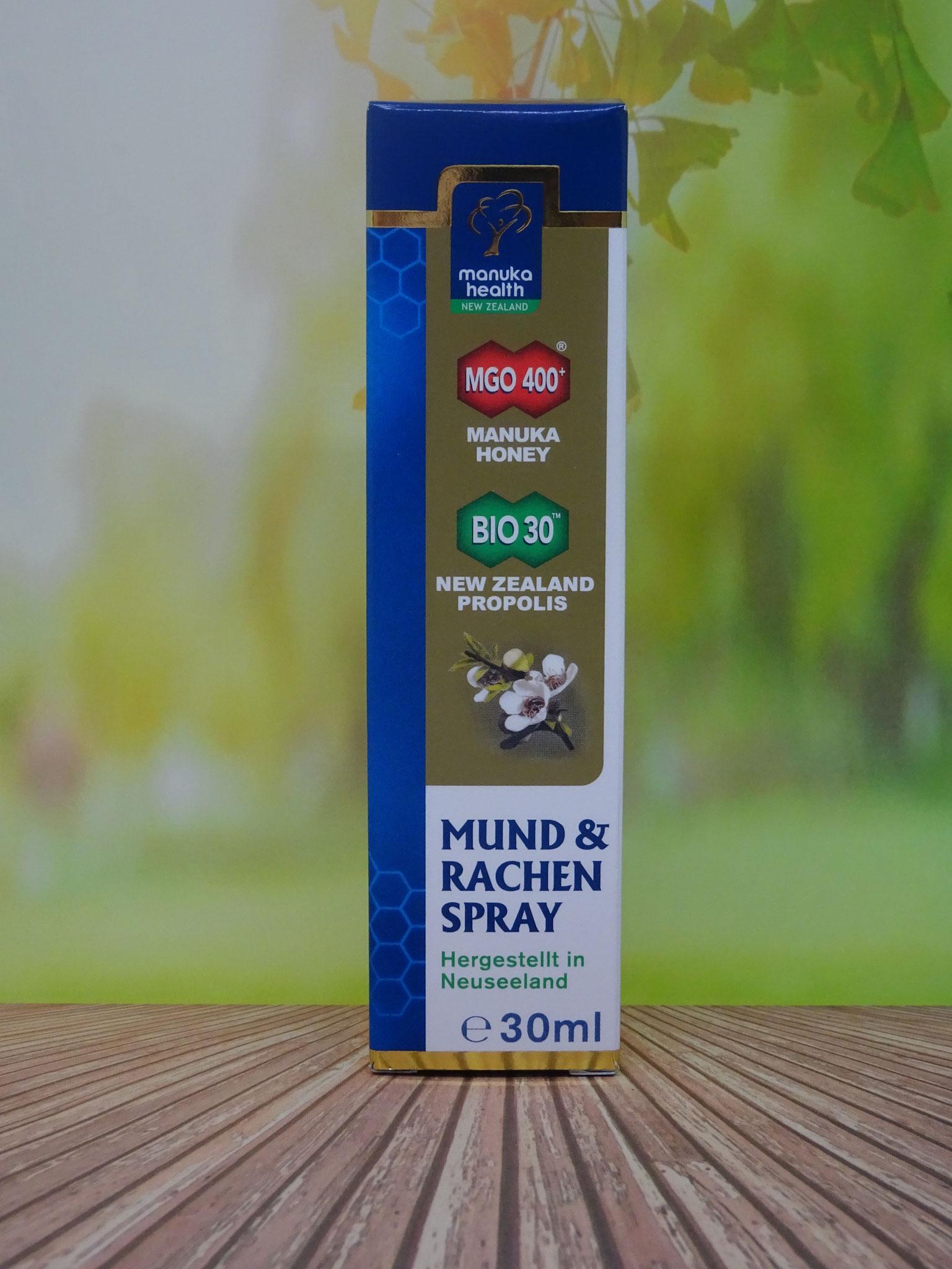 Manuka Honig Mund- und Rachenspray MGO 400 30ml (Manuka Health New Zealand)