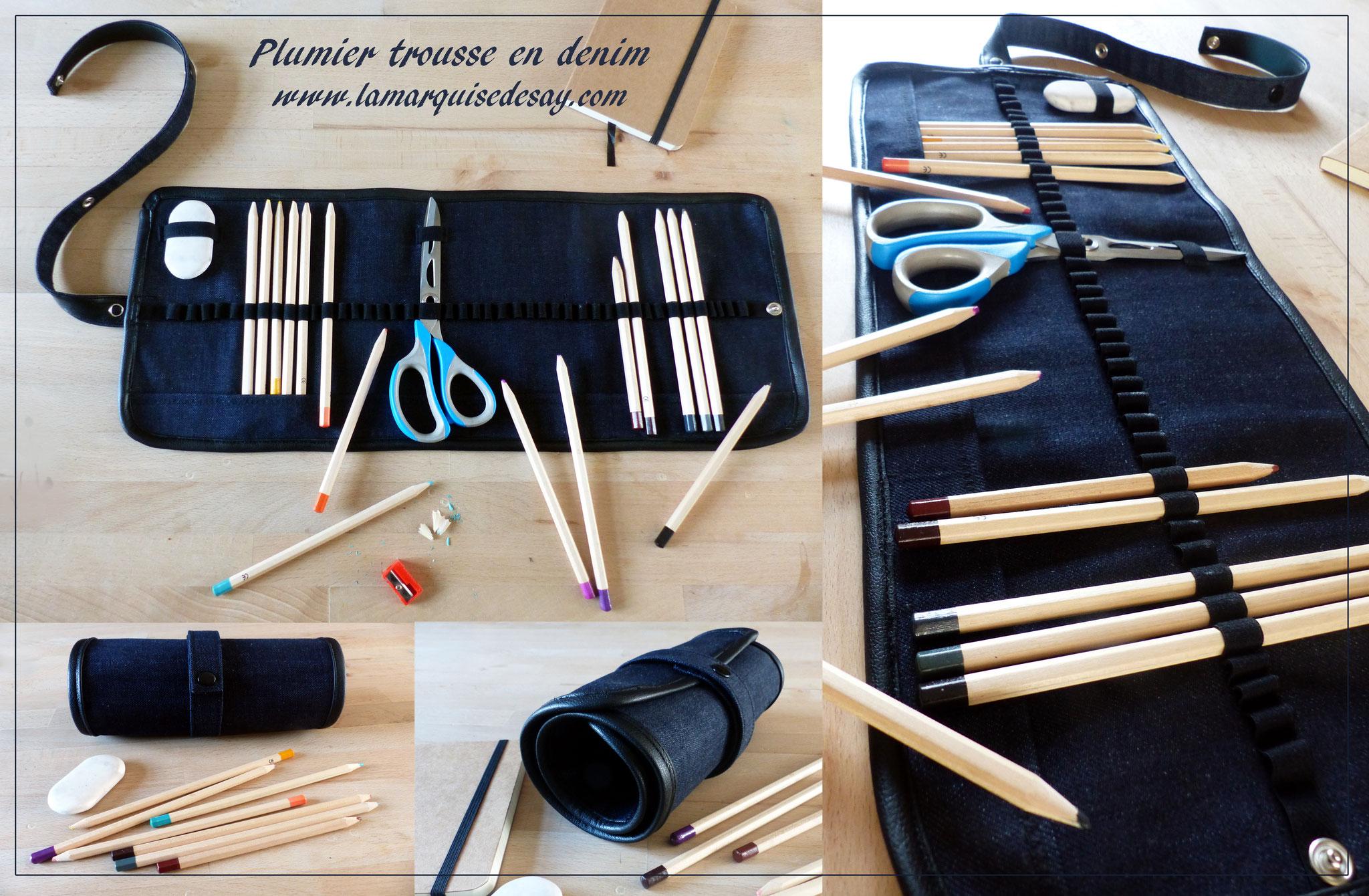 Plumier trousse pour les crayons