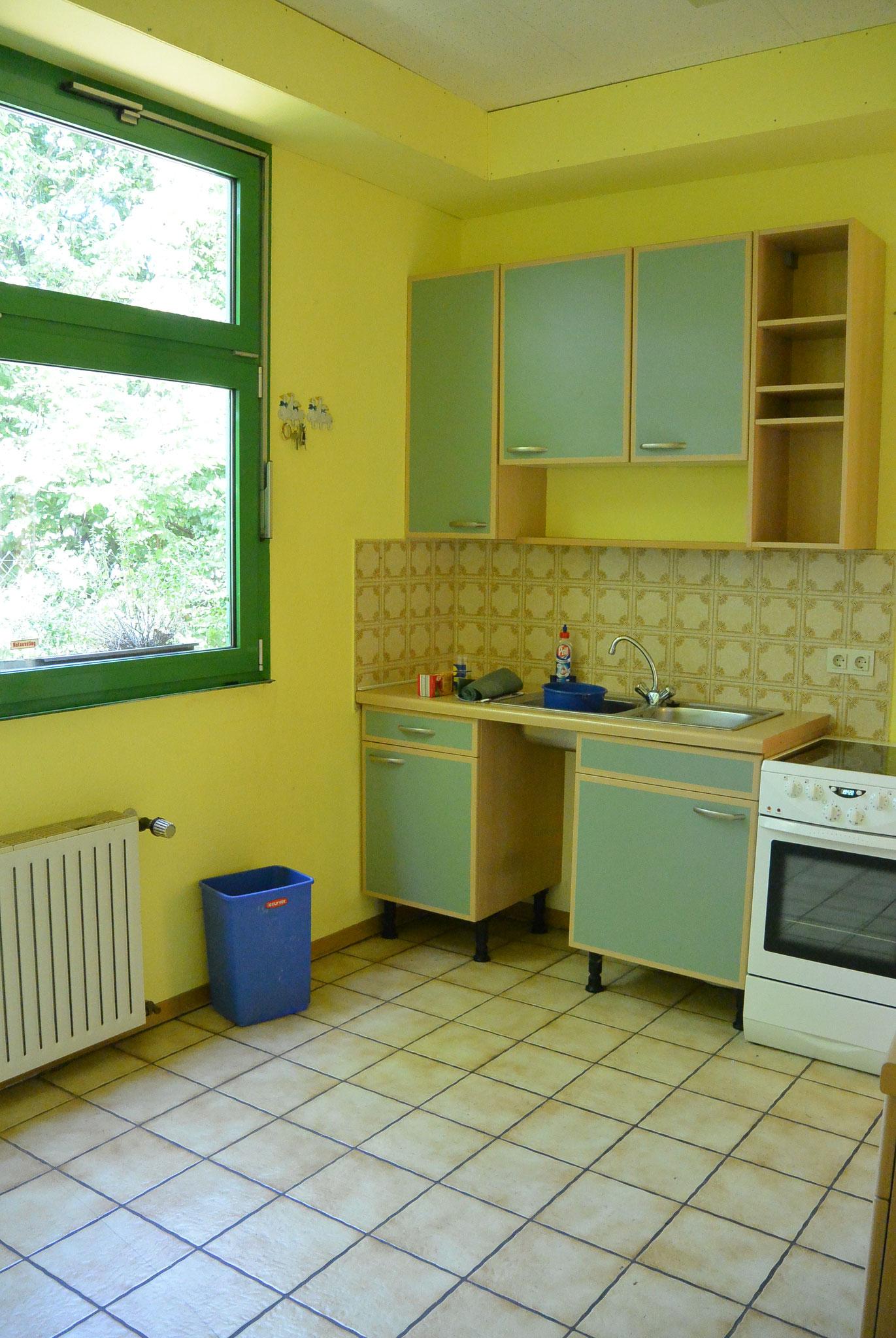 Auch der Sozialraum war gelb.