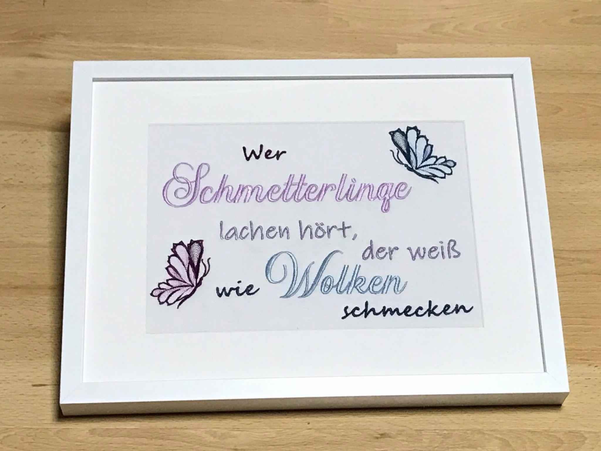 """""""Schmetterlinge"""" und """"Wolken"""" aus Annis Alphabet"""