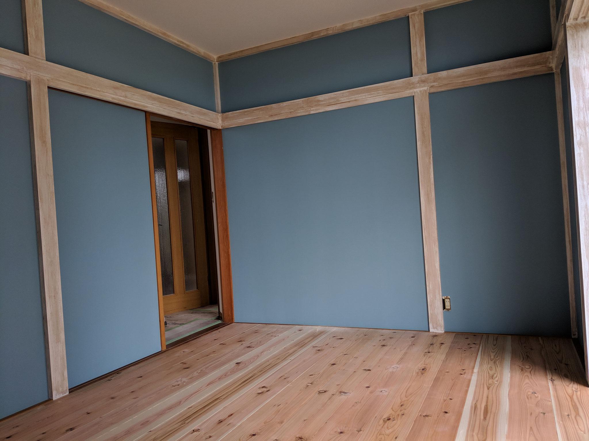 和室の洋室へのリノベ
