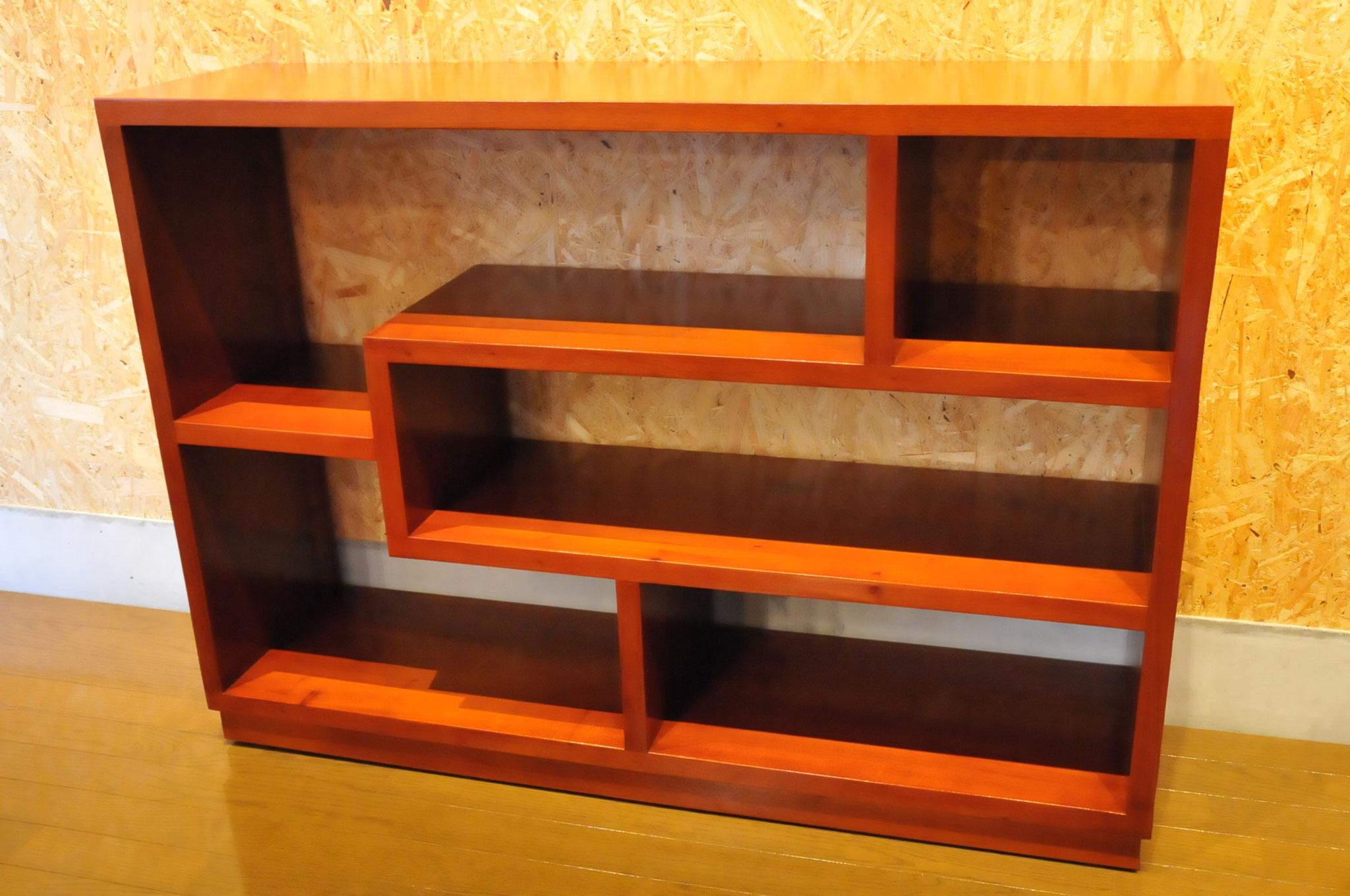 Mahogany carving open shelf