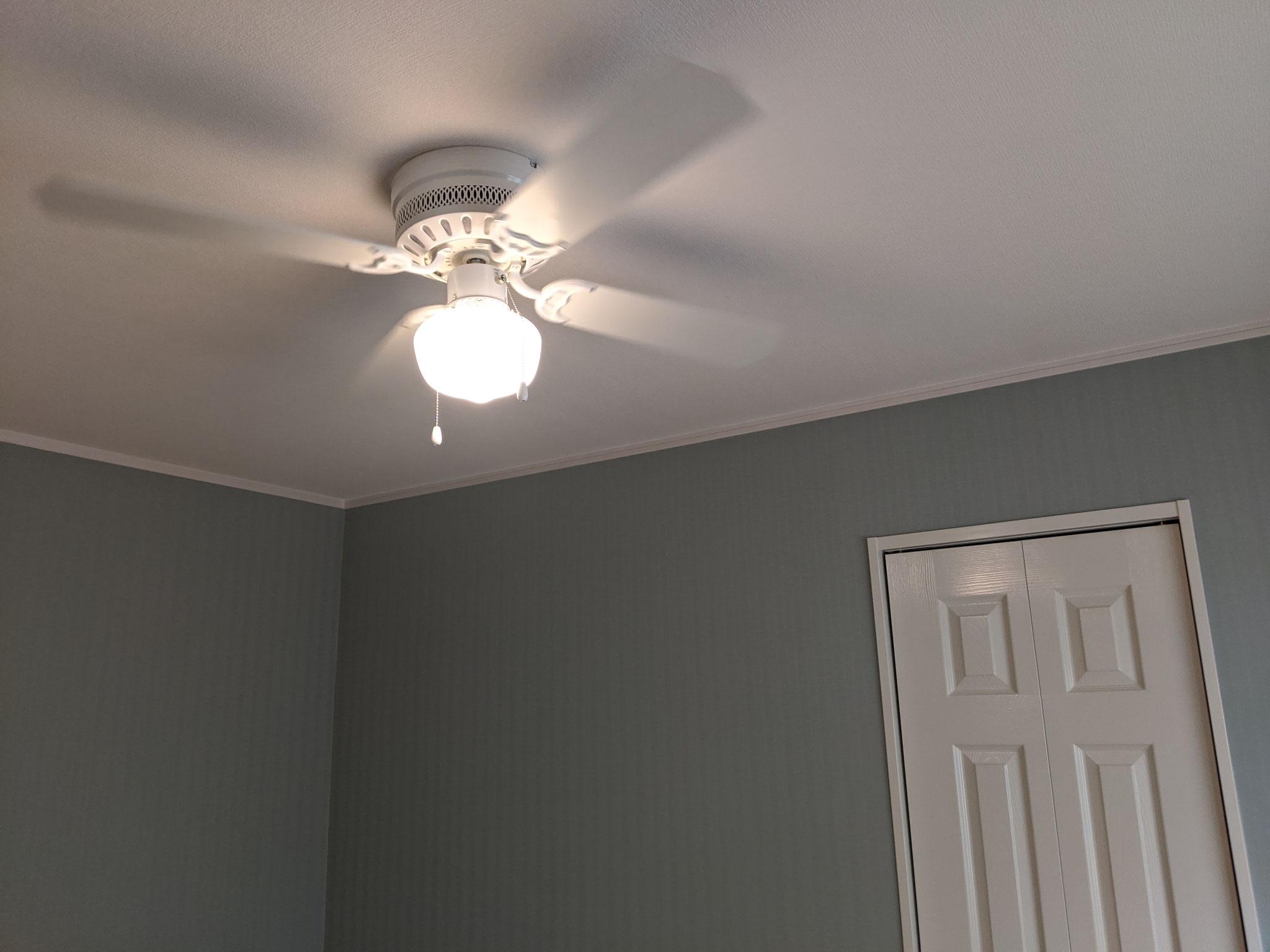 全居室にシーリングファン設置