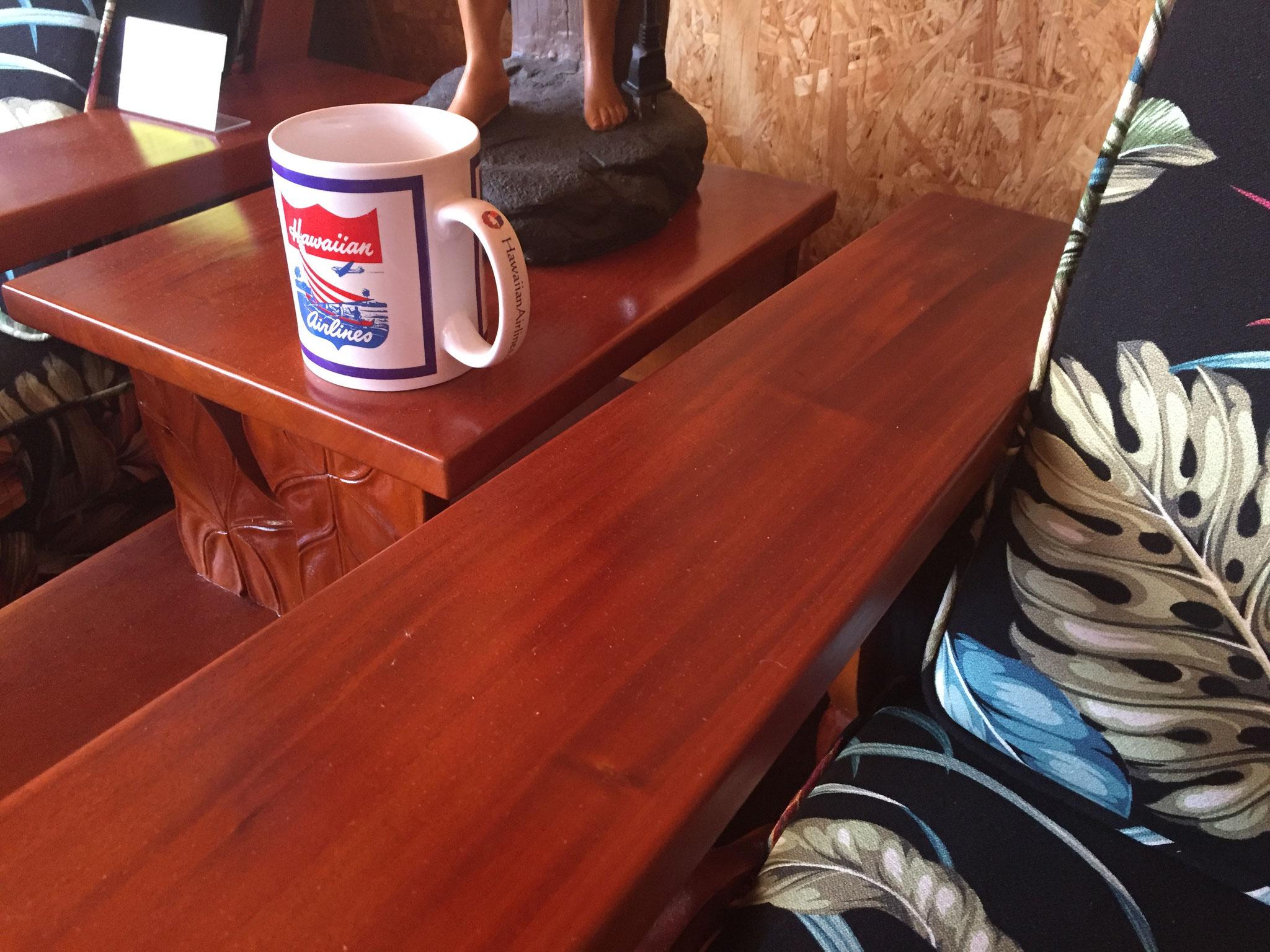Mahogany step end table