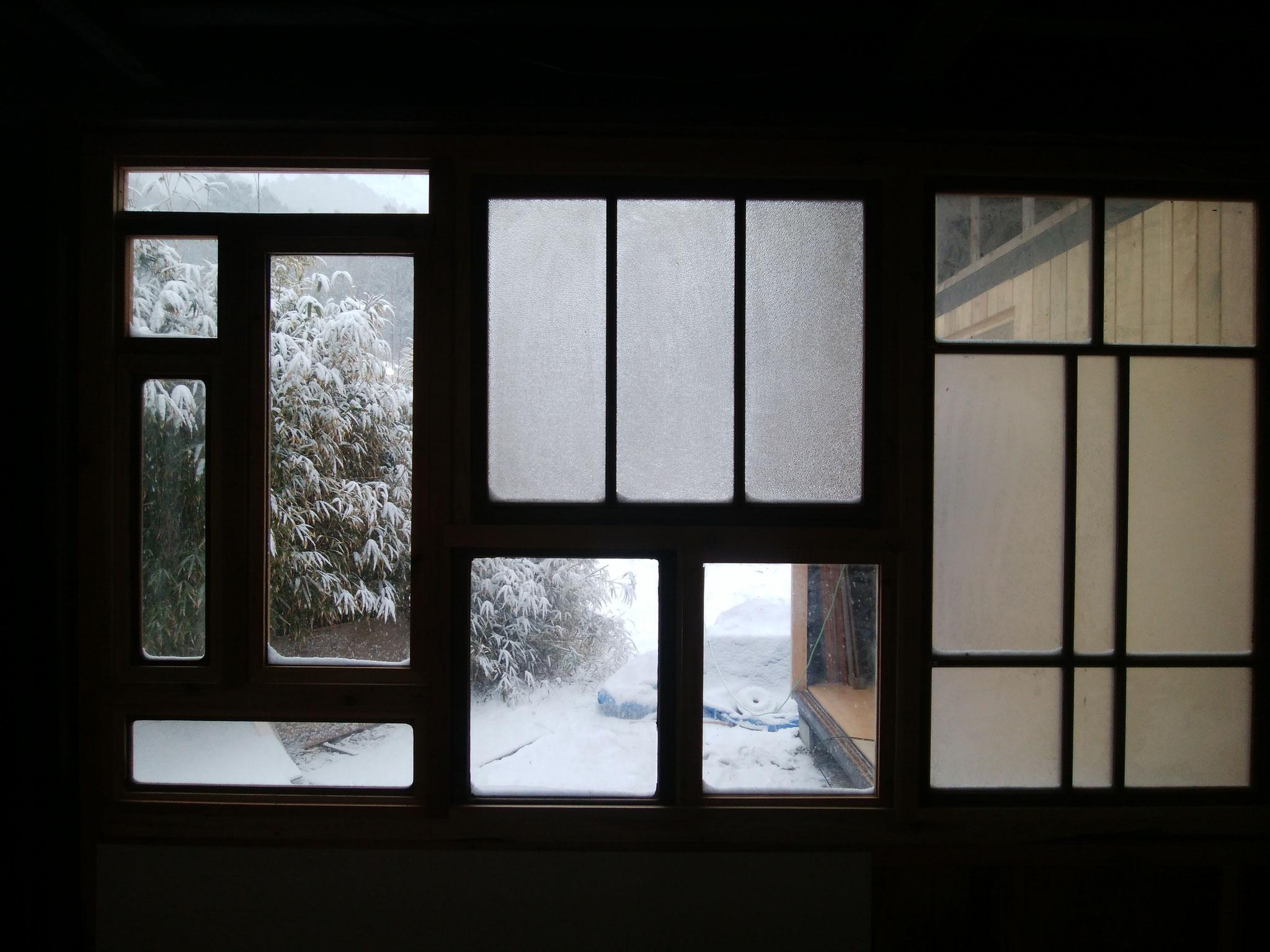 雪見は格別です。