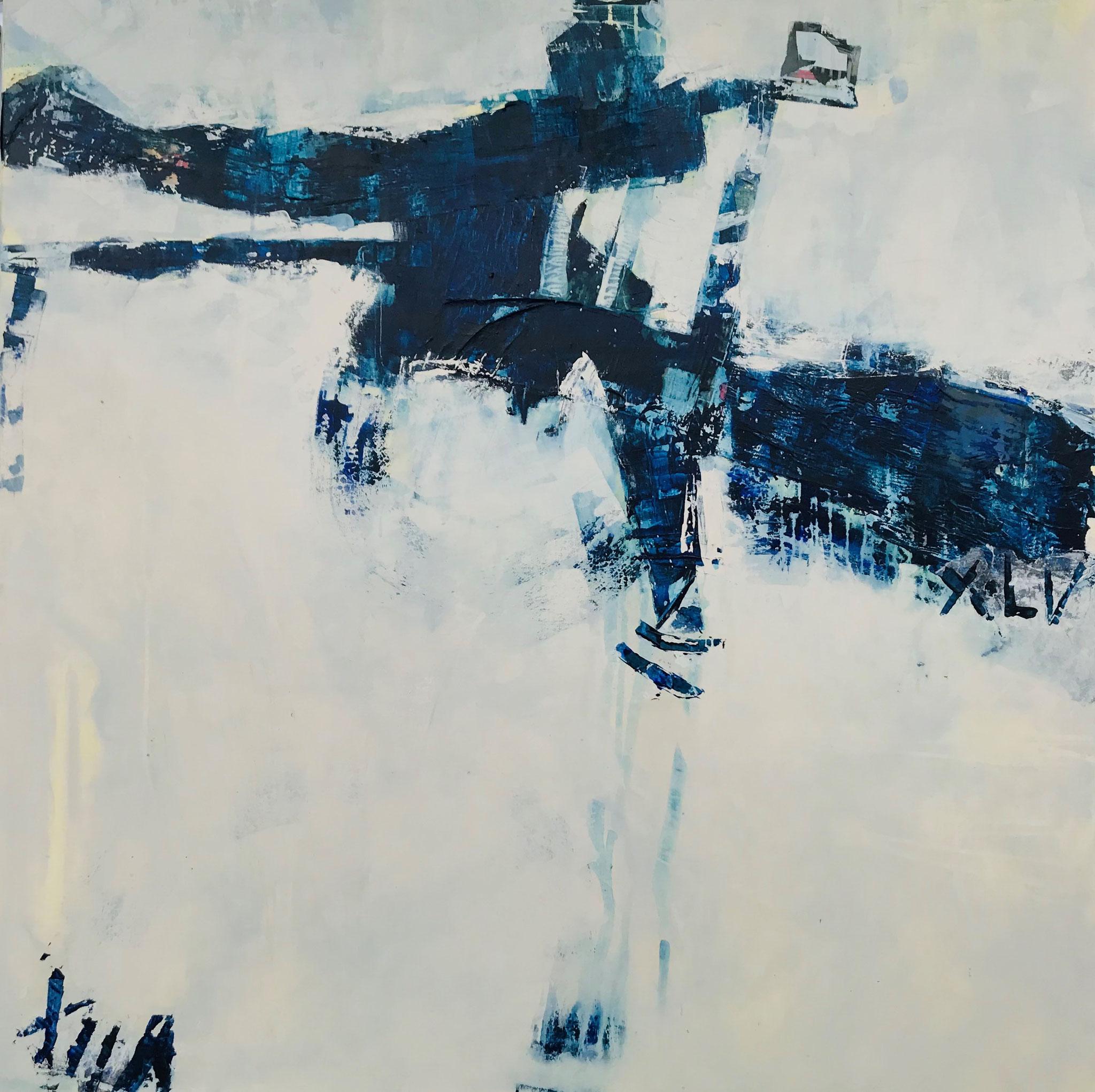 """Romeo e Julietta"", MT auf Leinwand 120x120 cm, 2019"