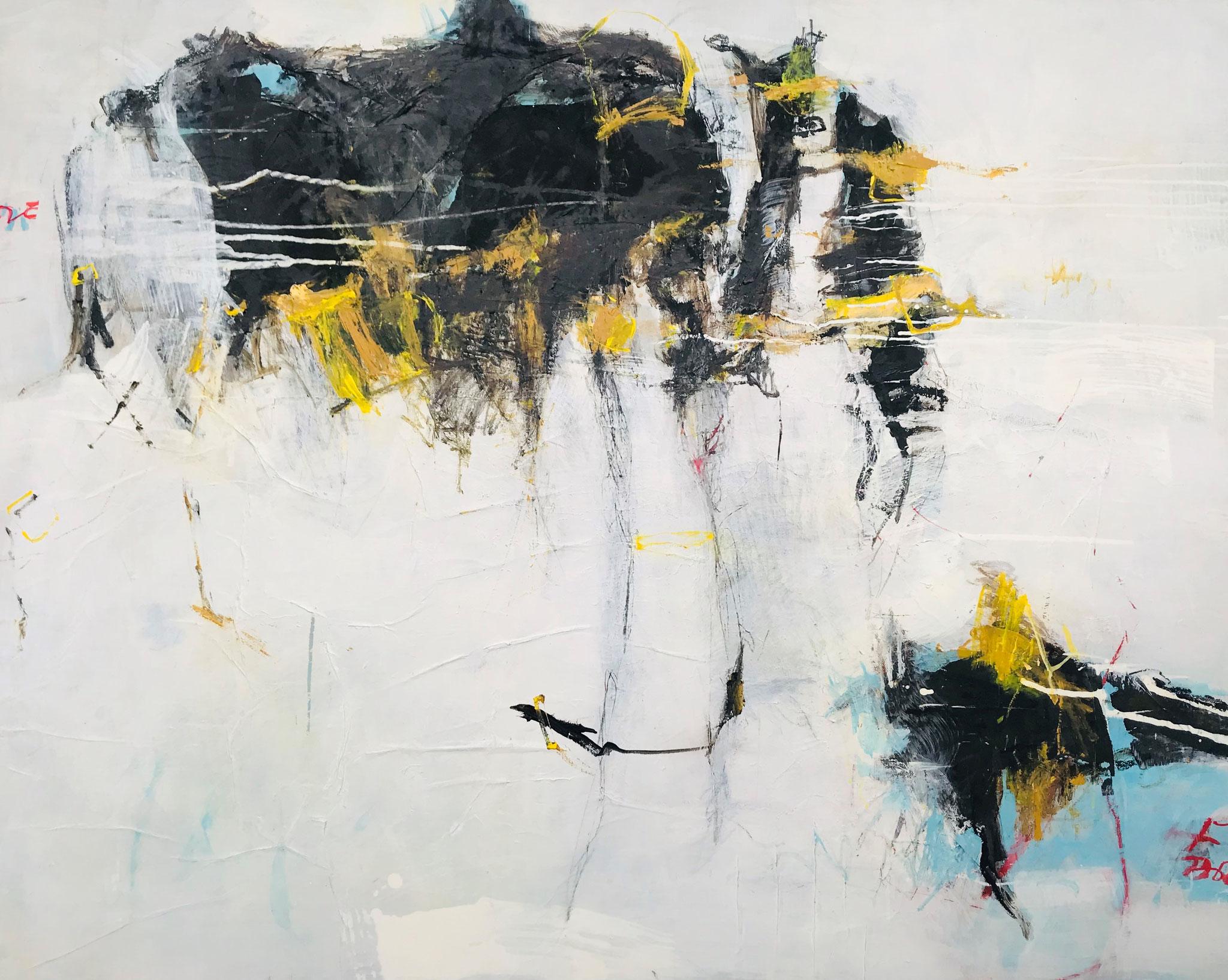 """Impression S.A."", MT auf Leinwand, 120x150 cm, 2019"