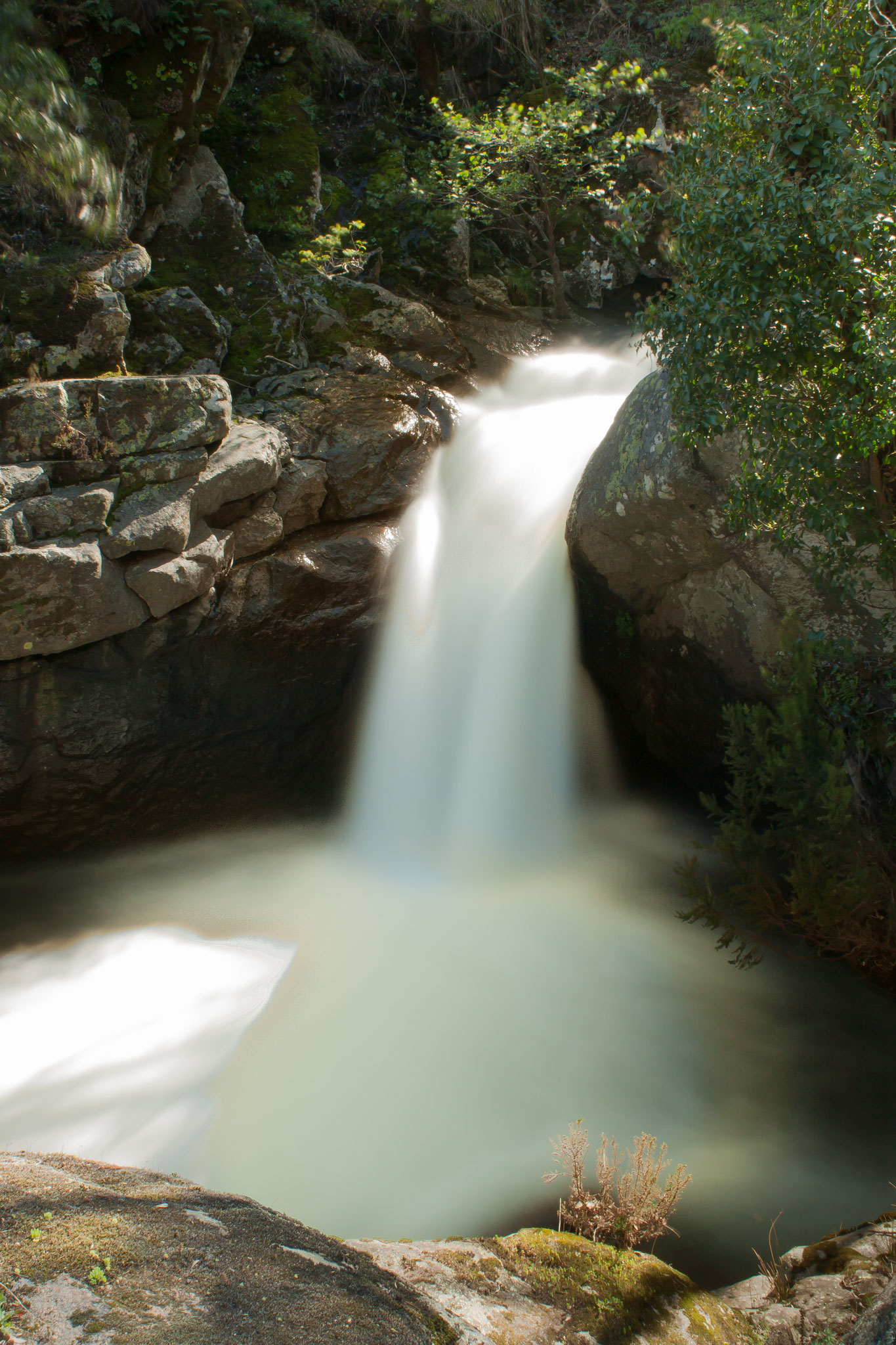 Cascada de la Ruta de las Nogaledas. Cáceres