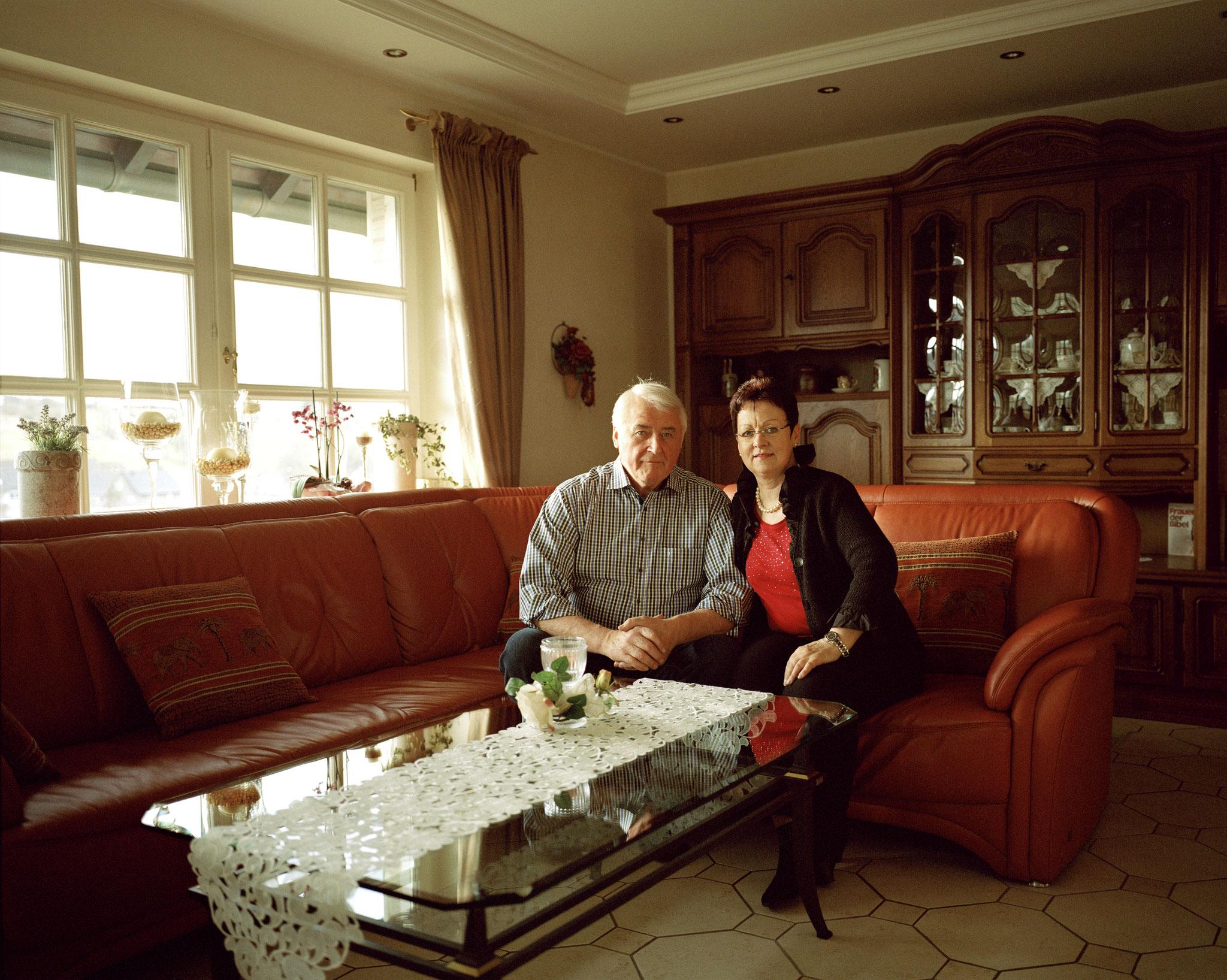 """Portrait Klaus und Hannelore Steinrücken (Schützenpaar 1980), aus der Serie """"Bruchhausen"""""""