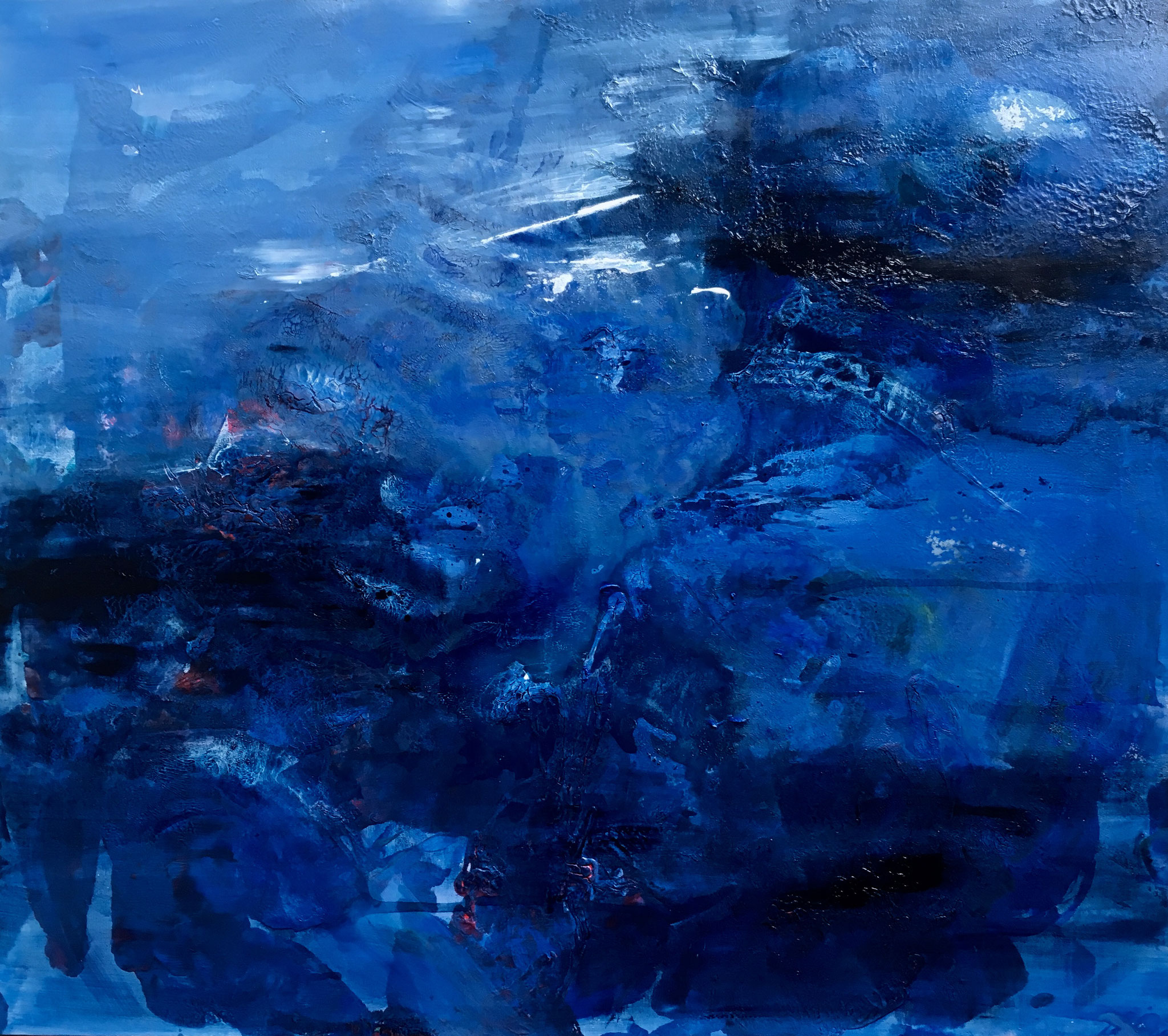 """""""BLUE"""" Acrylic on Canvas 160x180cm 2018 in privat Collection"""