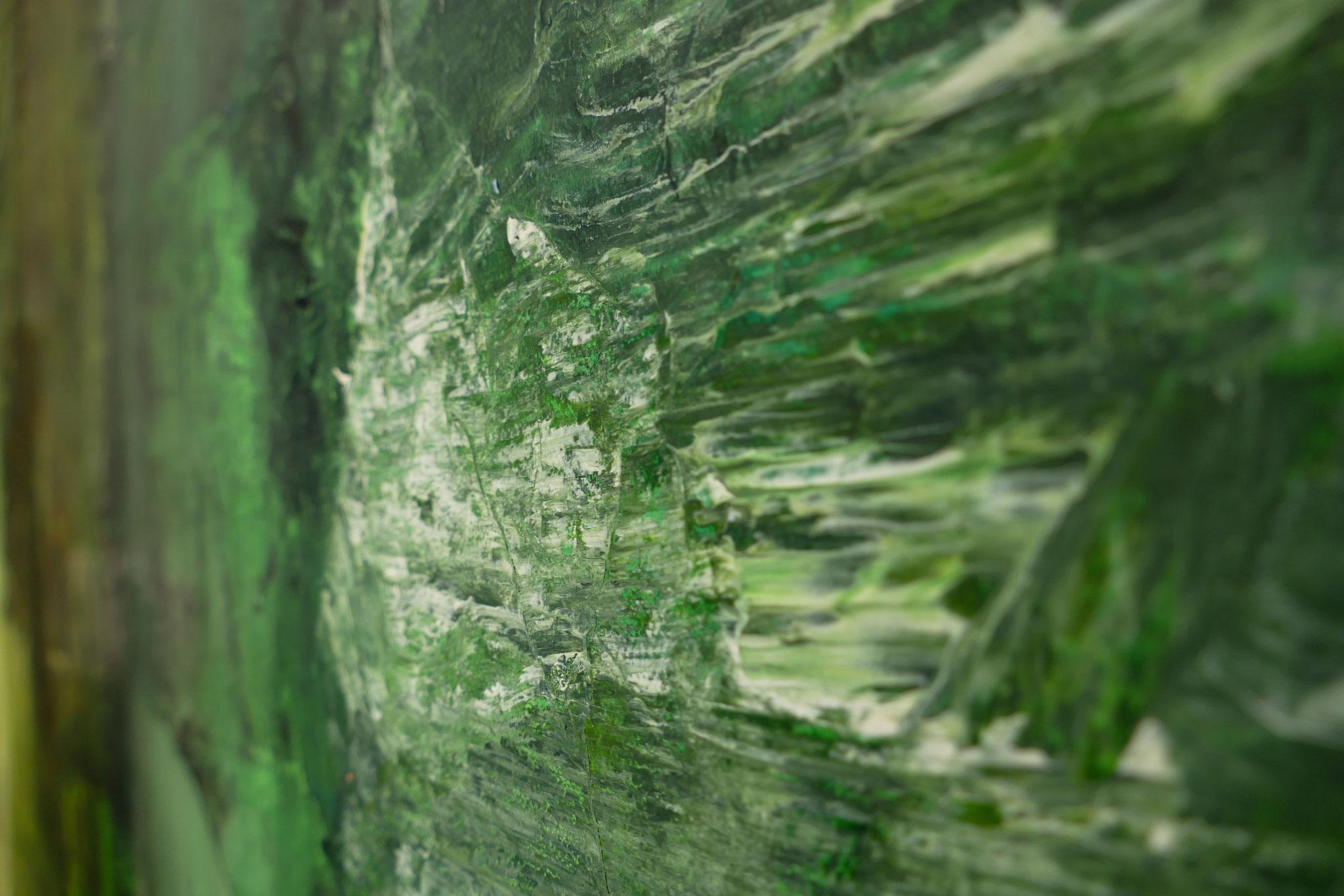 "Detail ""am Morgen"" Mixed Media on Canvas 140x270cm 2019"