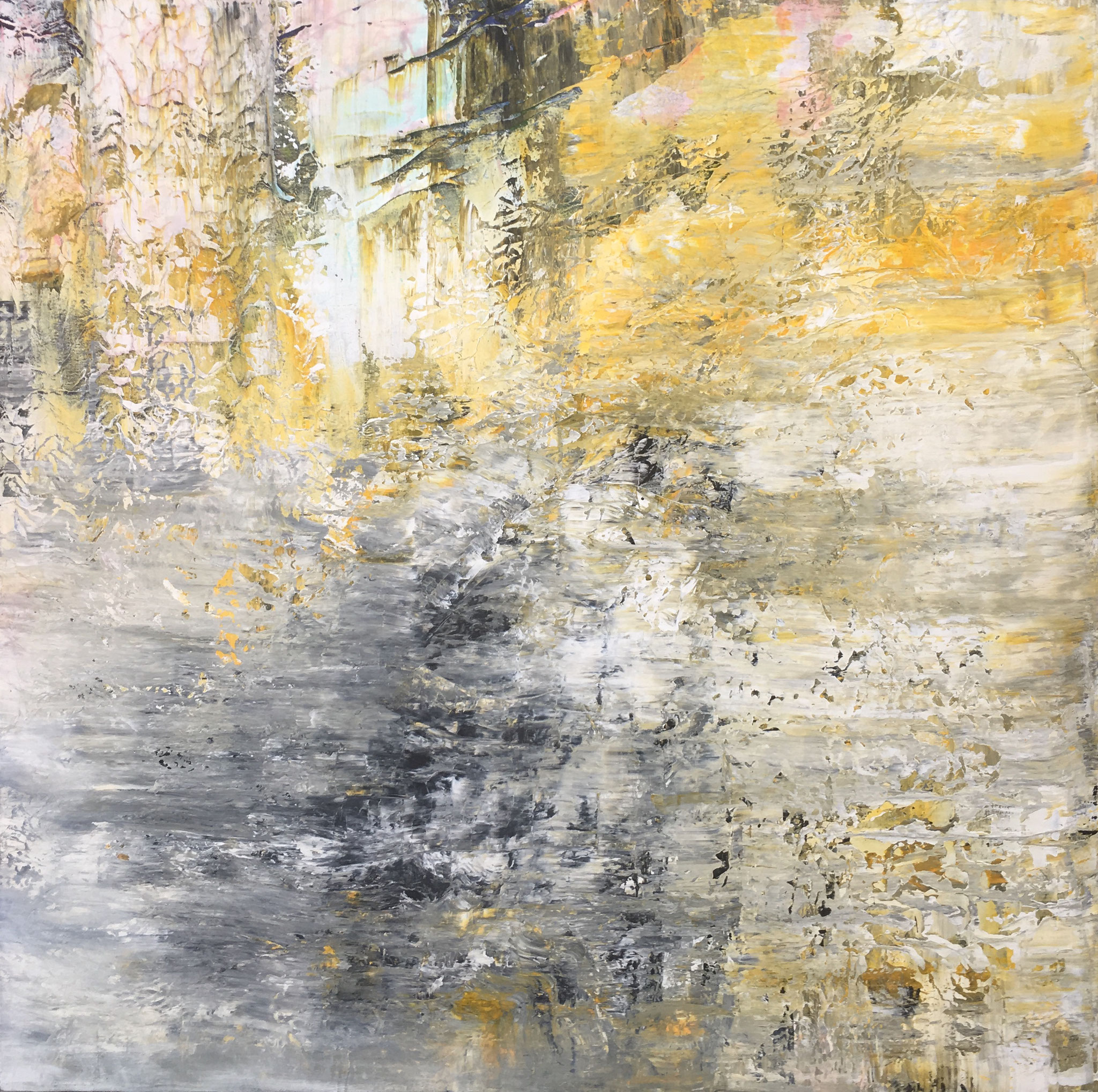 """""""Wooden Ships I"""" Acrylic on Canvas 140x140cm 2019 in Privat Collection"""