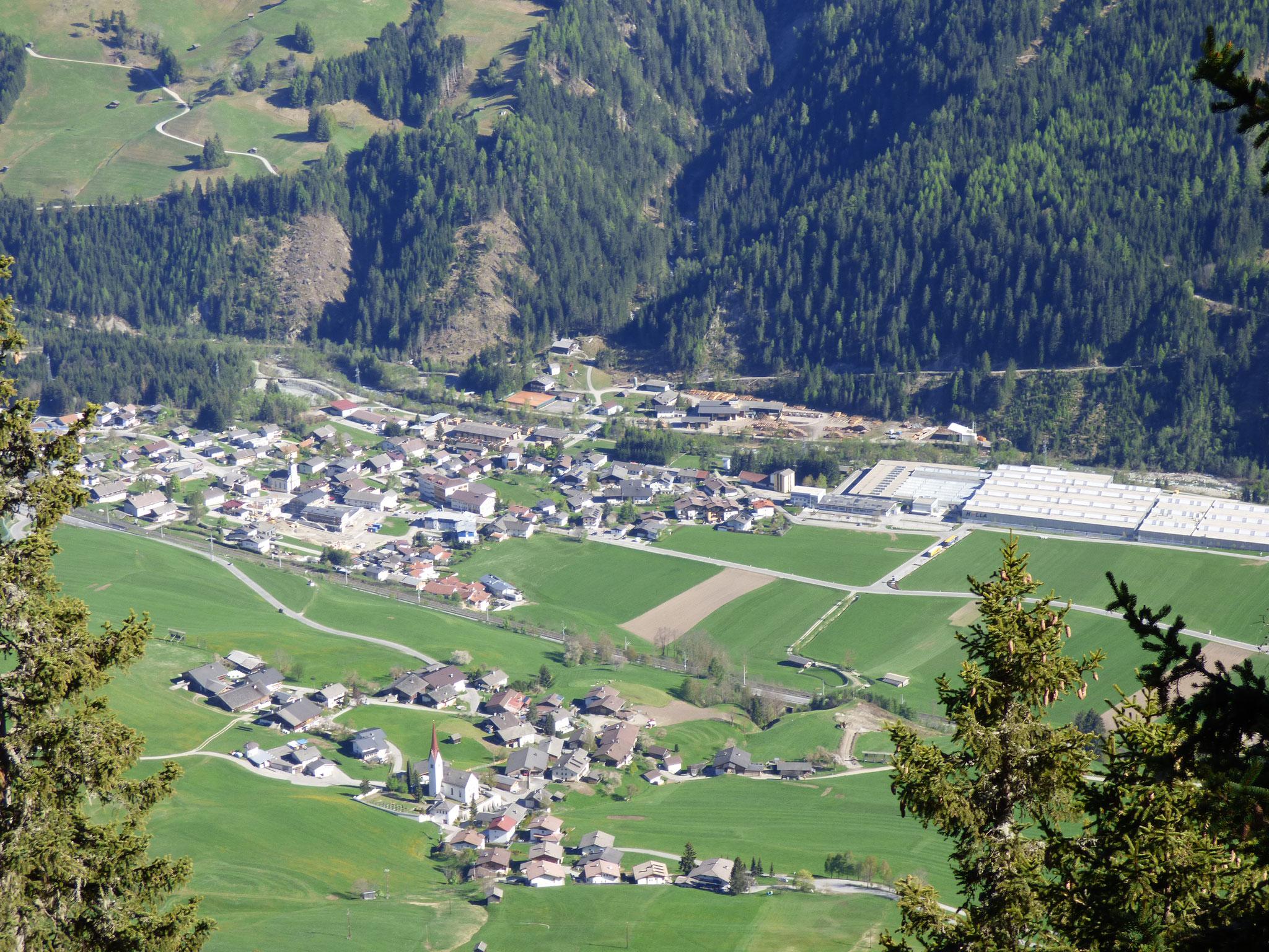 Abfaltersbach von oben