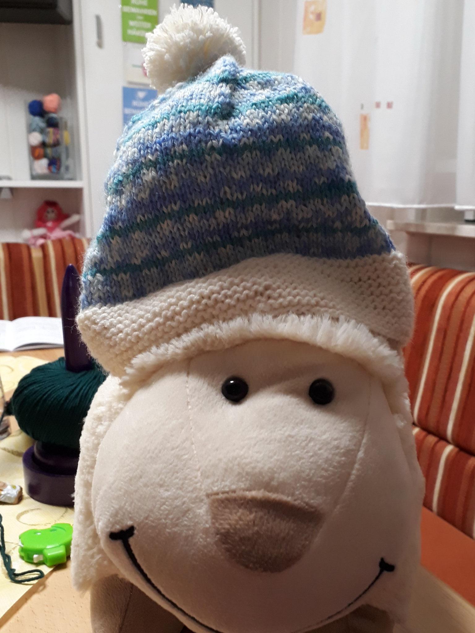 Babymütze aus 4-fach Sockenwolle