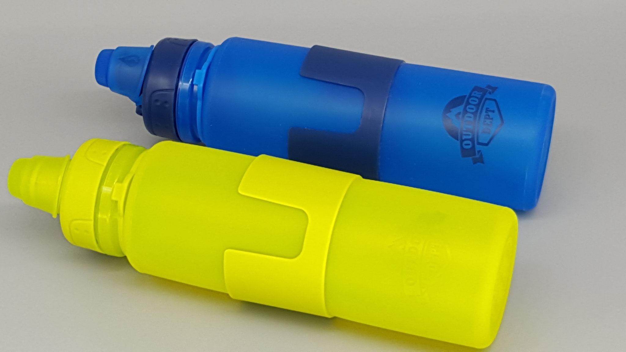 Blaue und Grüne Flasche