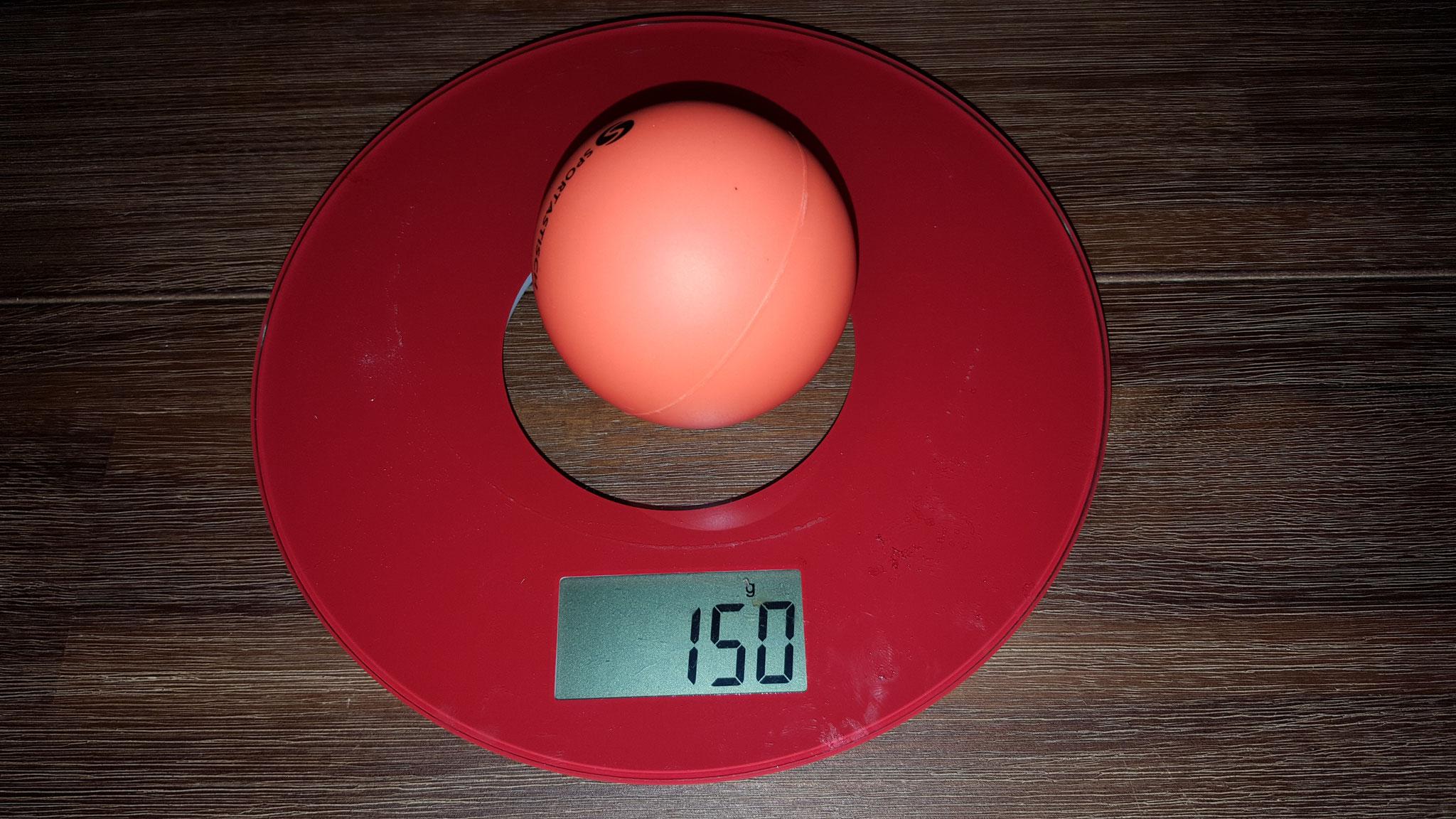 Gewicht Einzelball