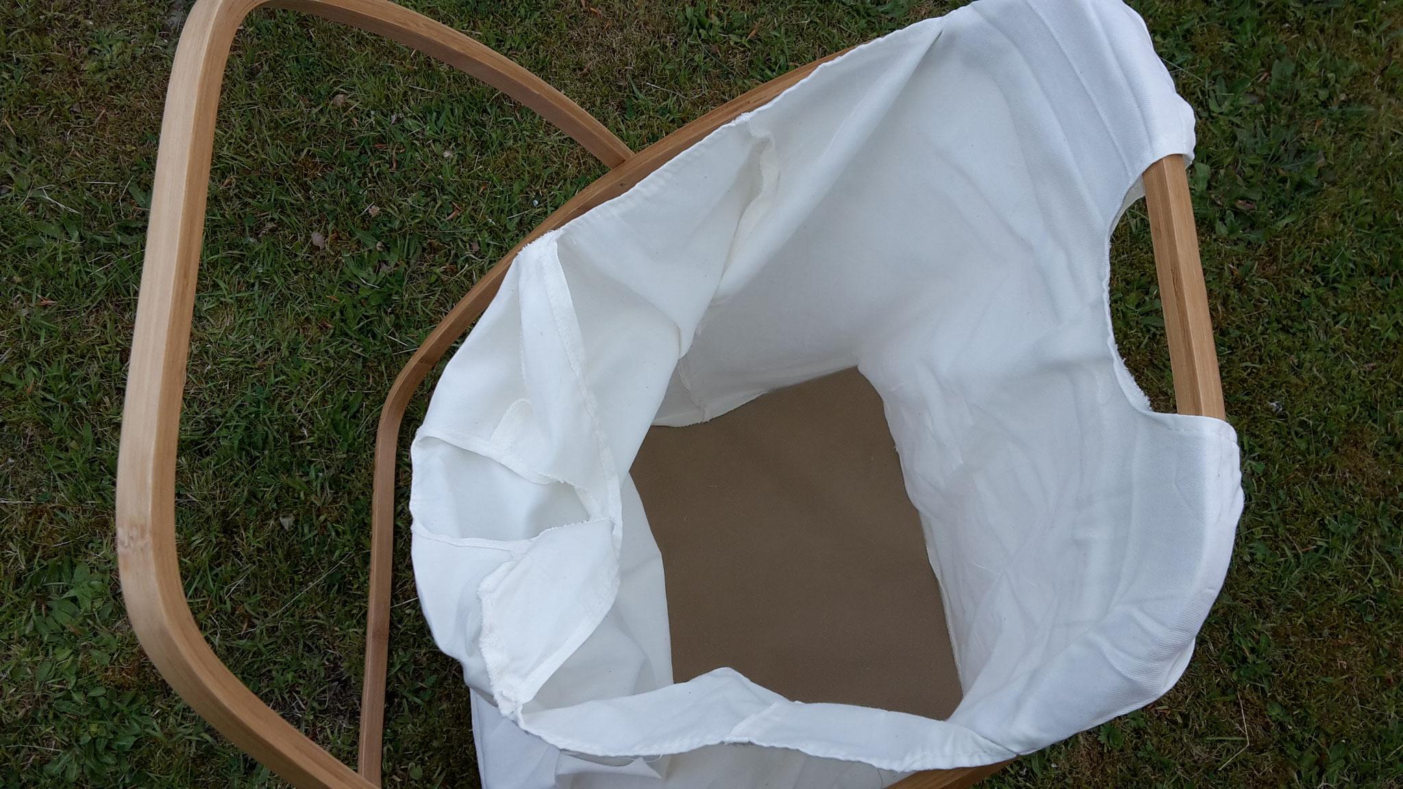 Abnehmbarer Wäschesack mit Haltegriffen