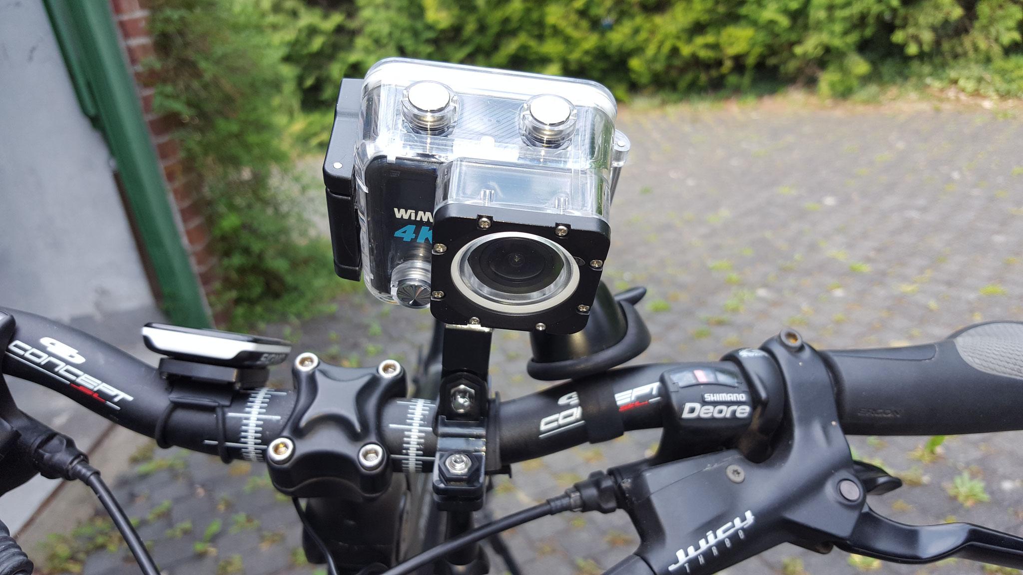 Action Cam am Fahrrad