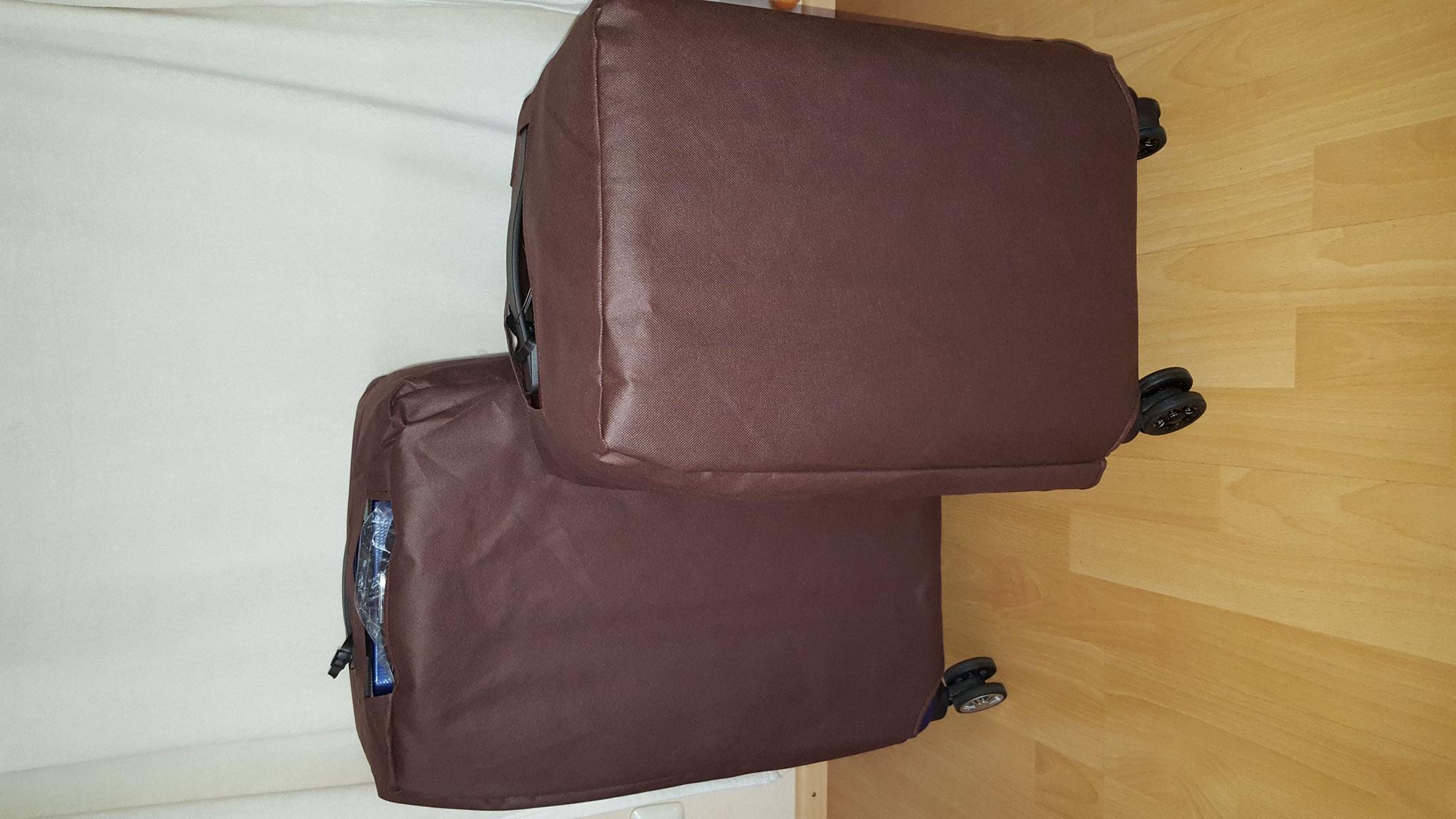 Koffer mit Schutzbezügen