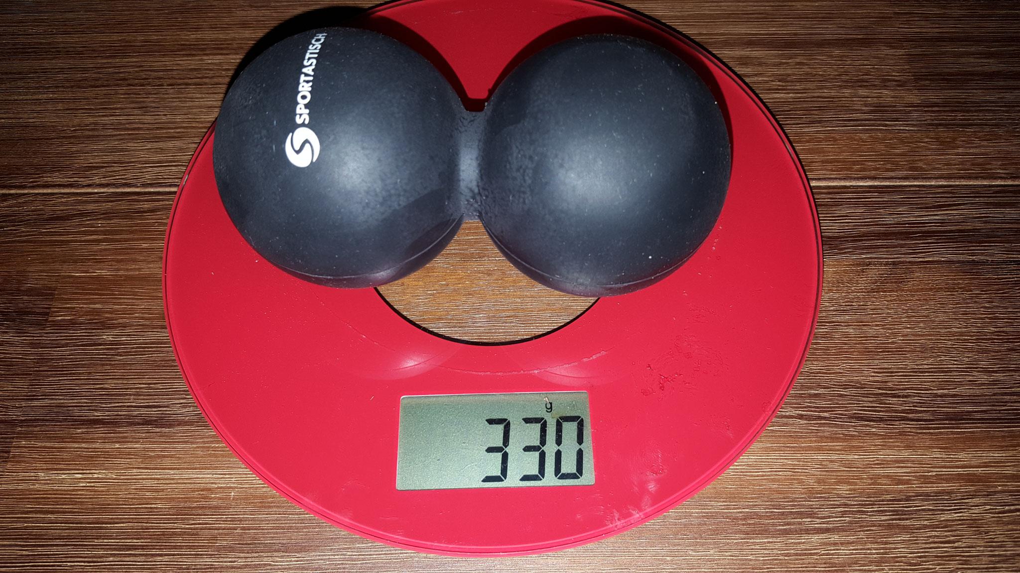 Gewicht Doppelball