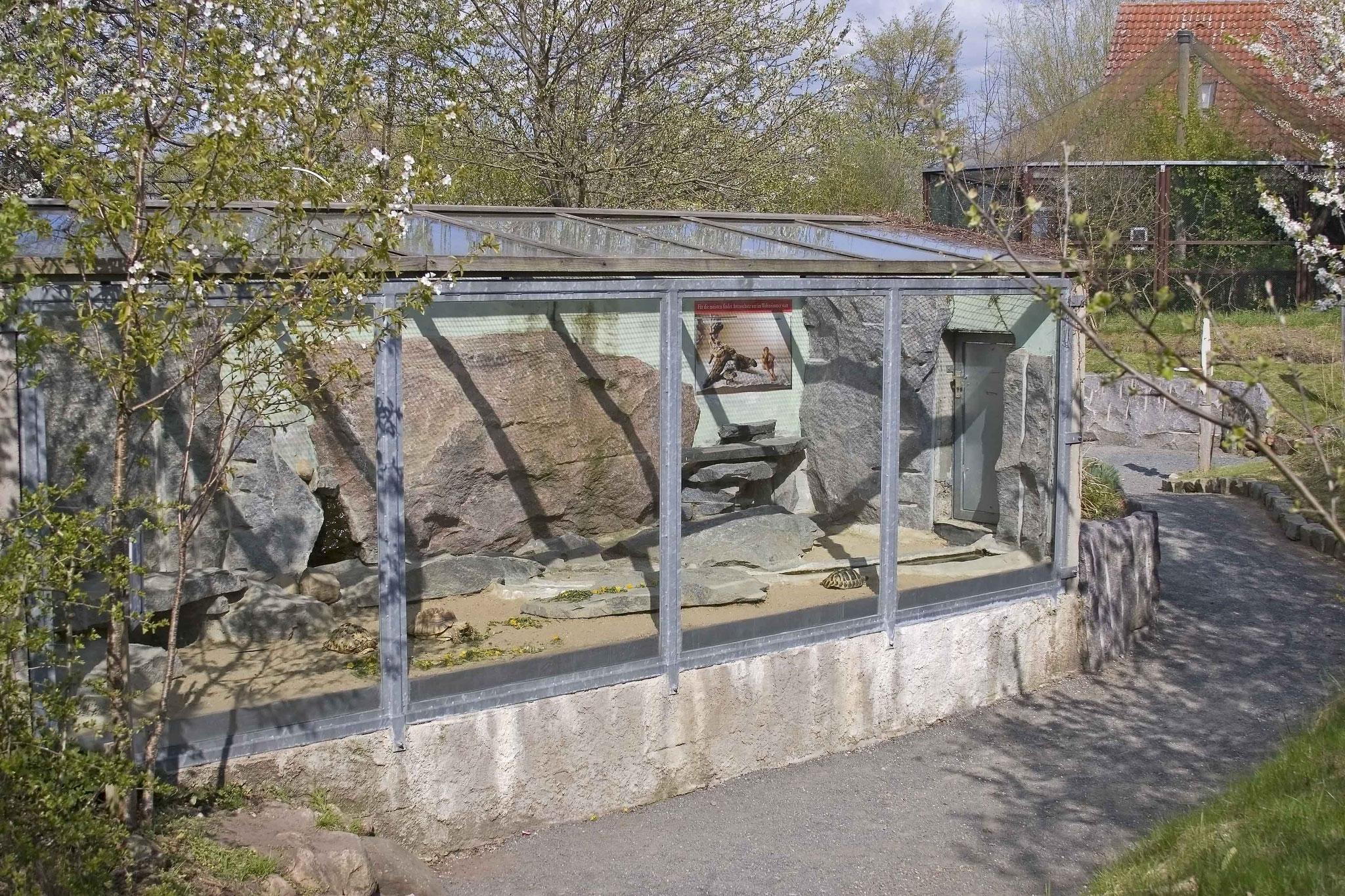 Freilandterrarium für Landschildkröten