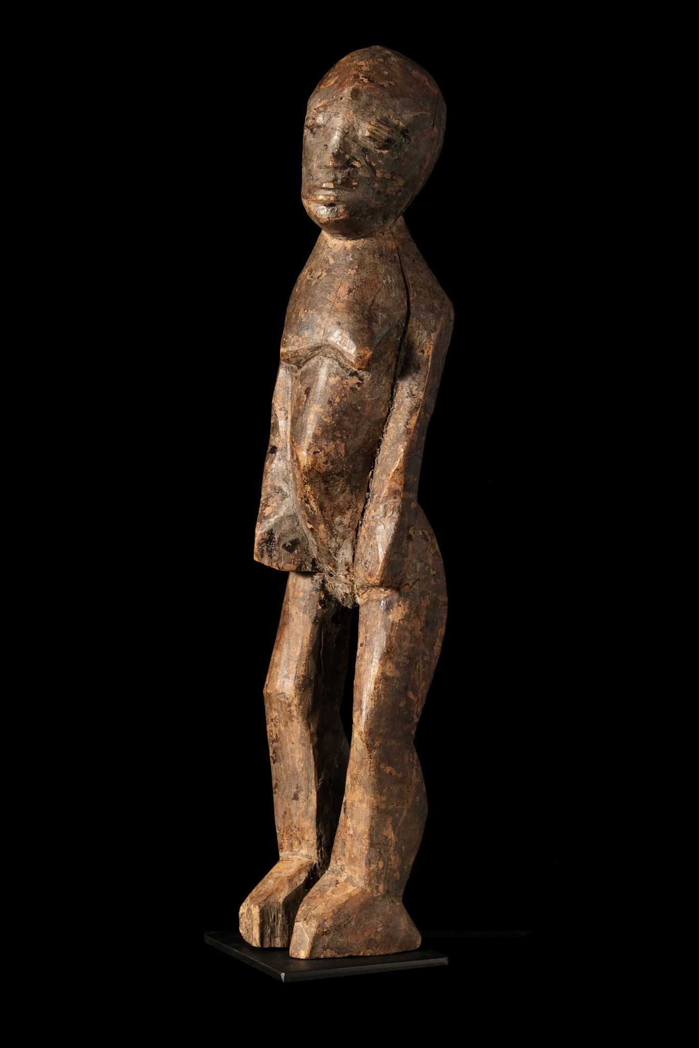 Lobi Figure from Burkina Faso with artificial posture