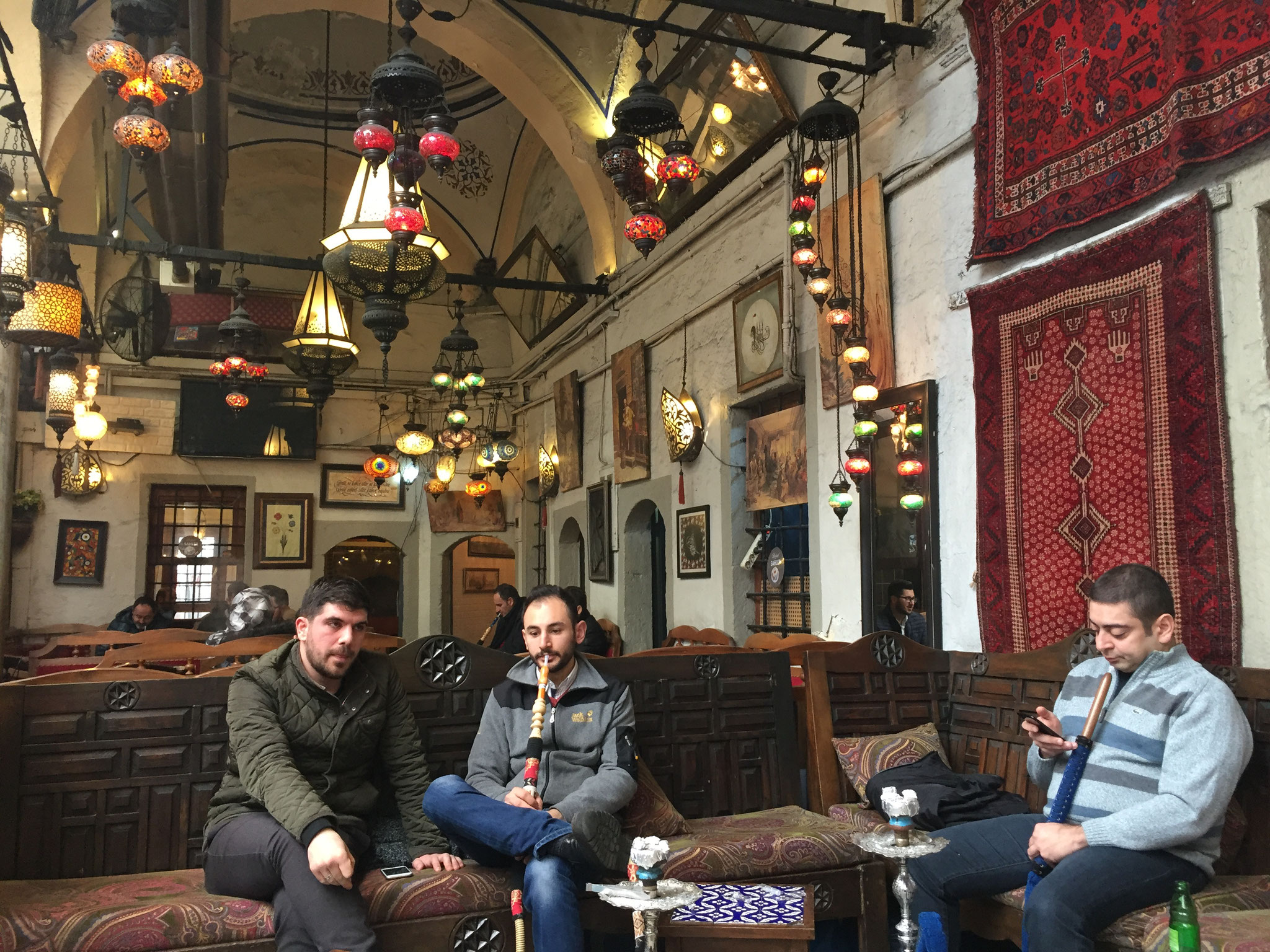 İstanbul  水パイプ喫茶