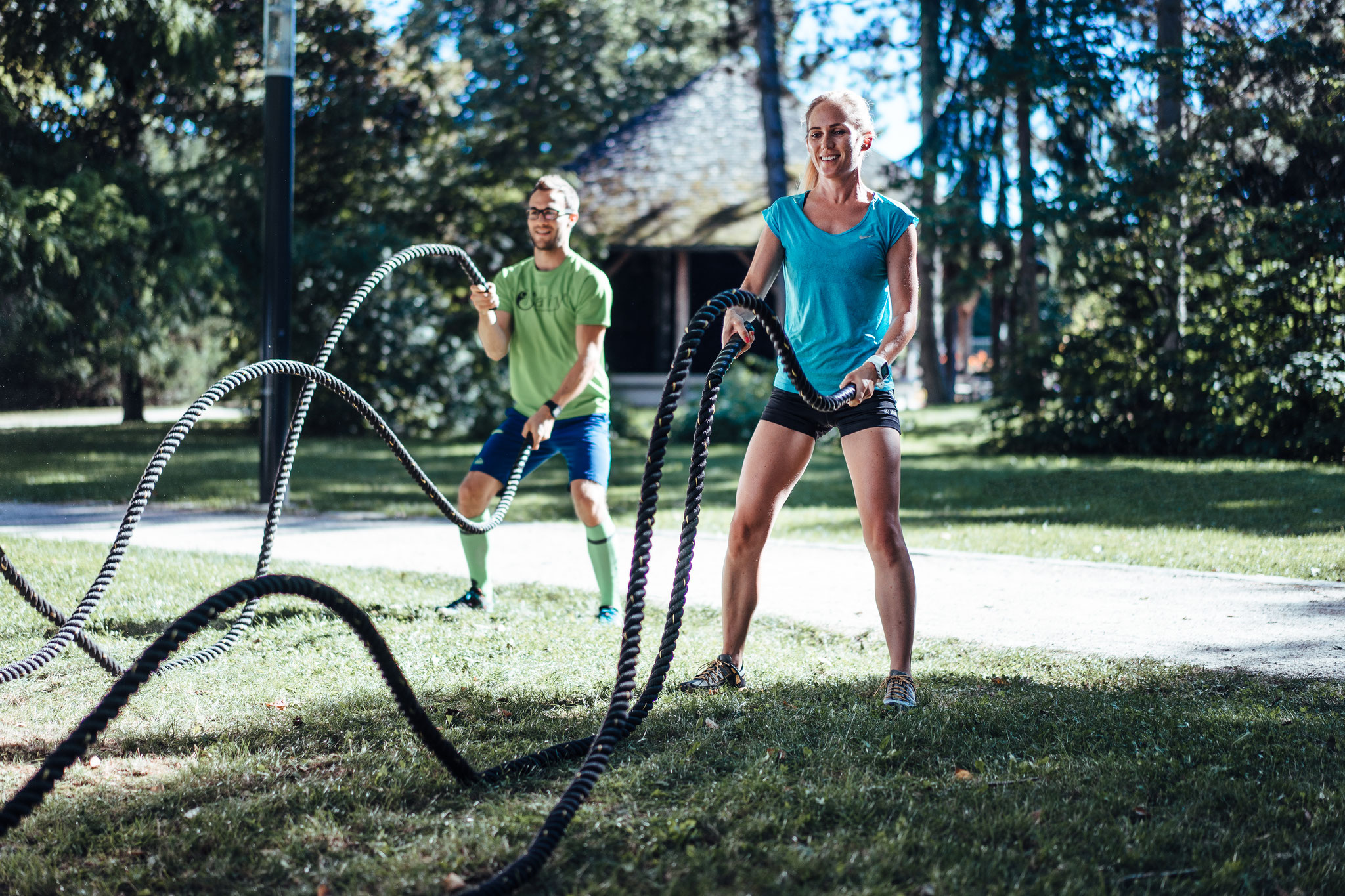Training mit den Battle-Ropes - Natify