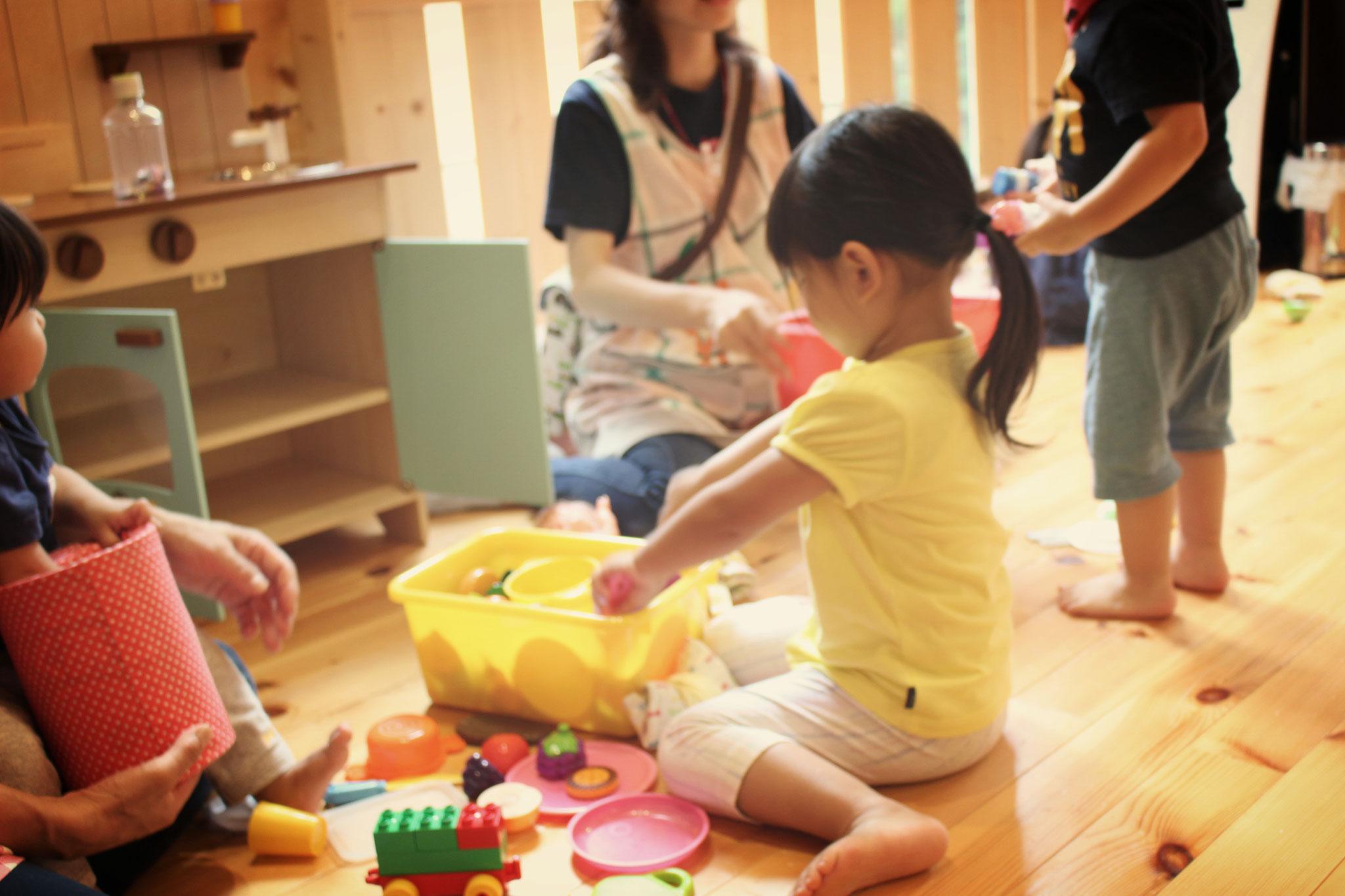 みんなままごと遊びが好きです 日々遊びを面白く発展させることで「創造力」が豊かになりますね