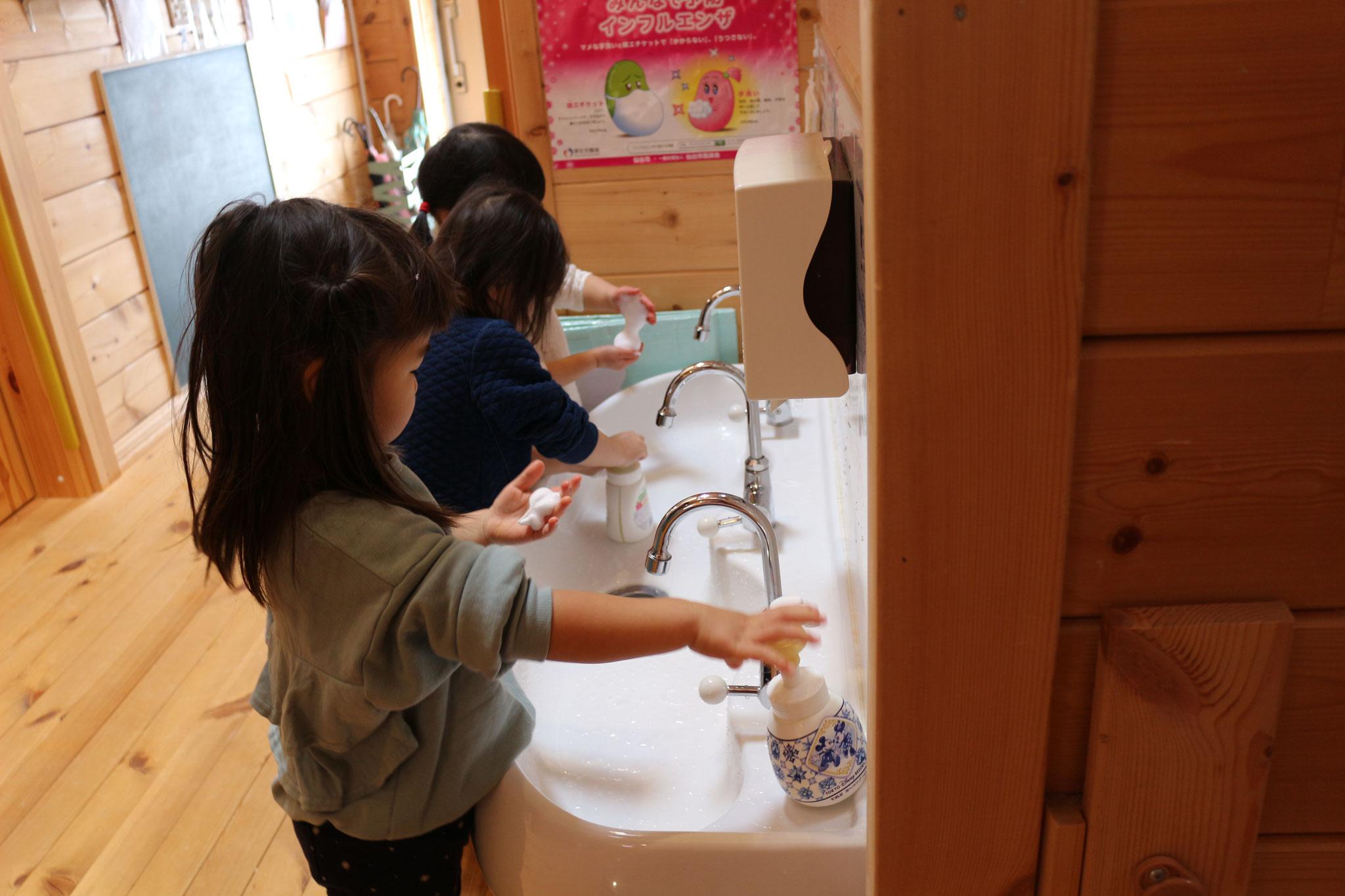 引き続き手洗い強化中です