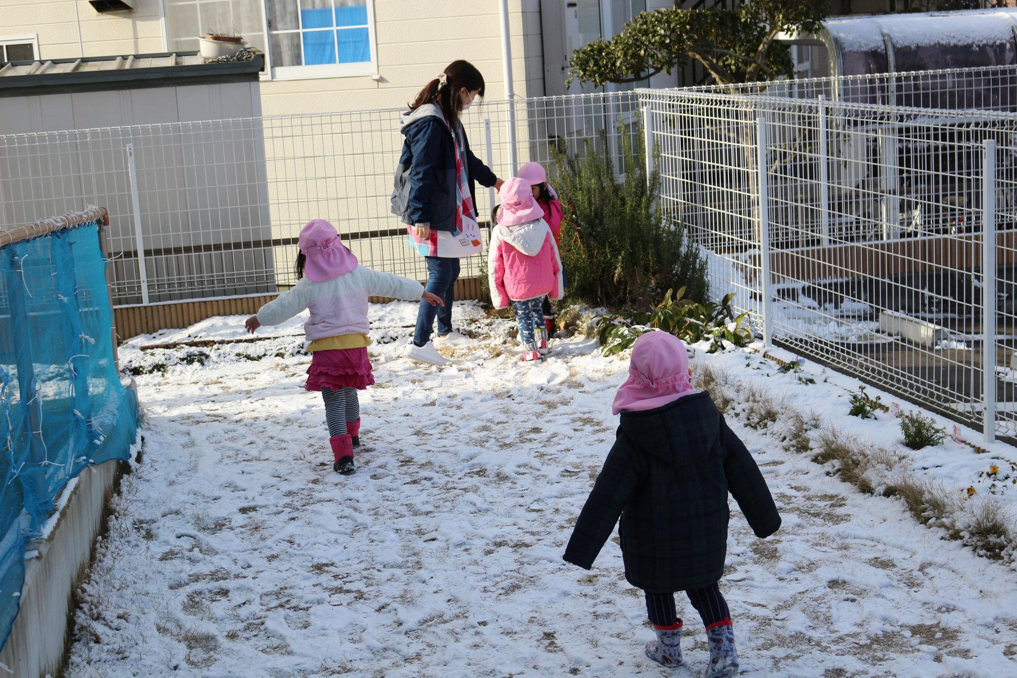 ちいさい園庭の冬