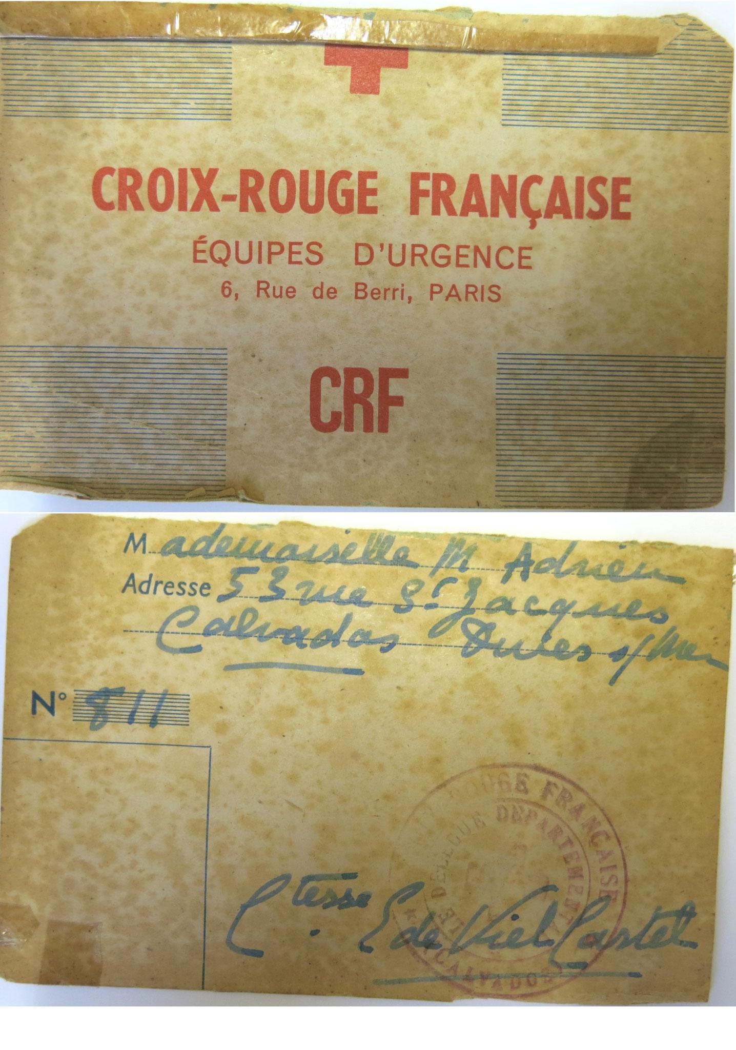 Croix rouge française 1944 - Collection Henri