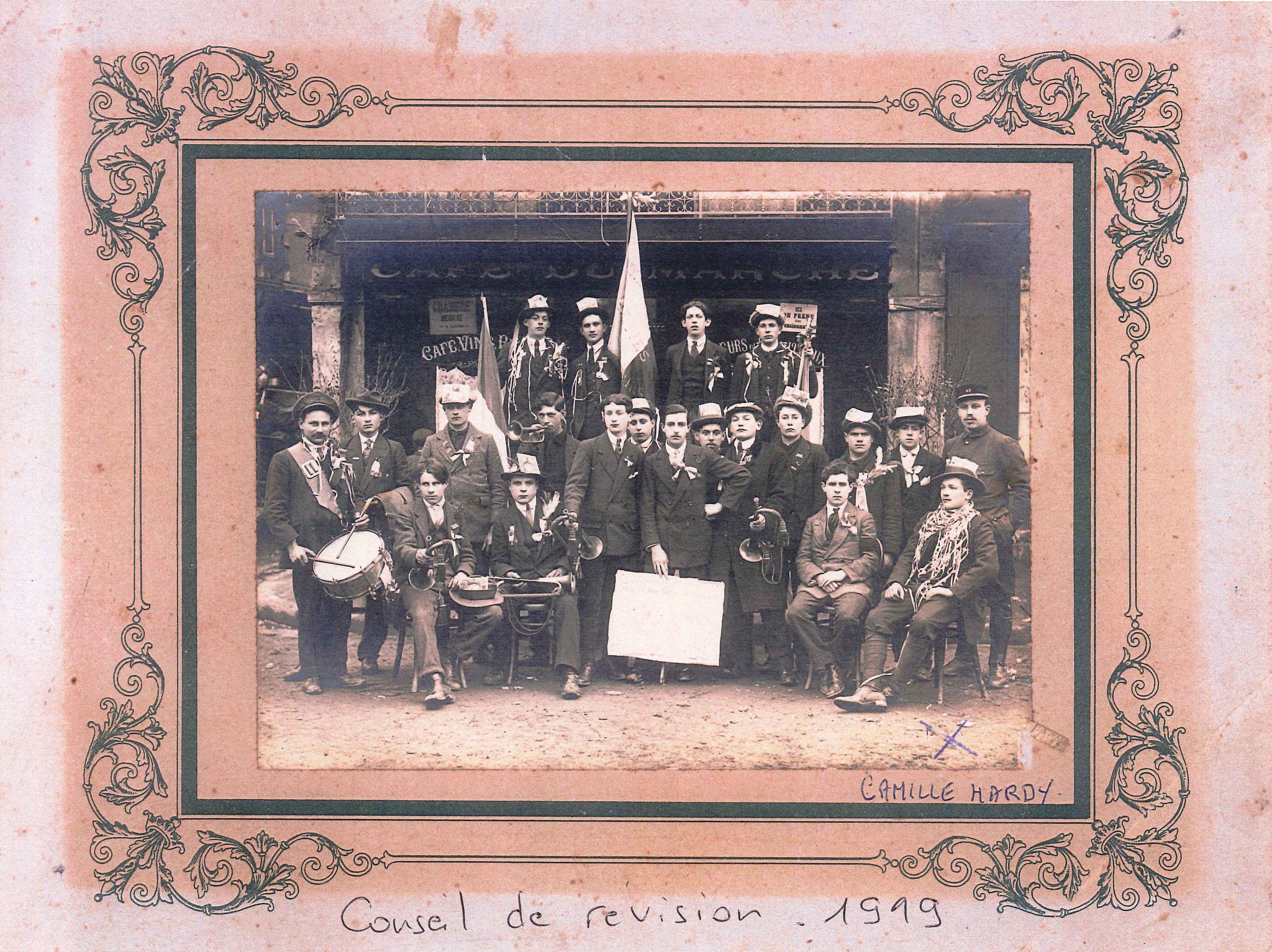 Conseil de révision Dives  1919 - Collection Hardy
